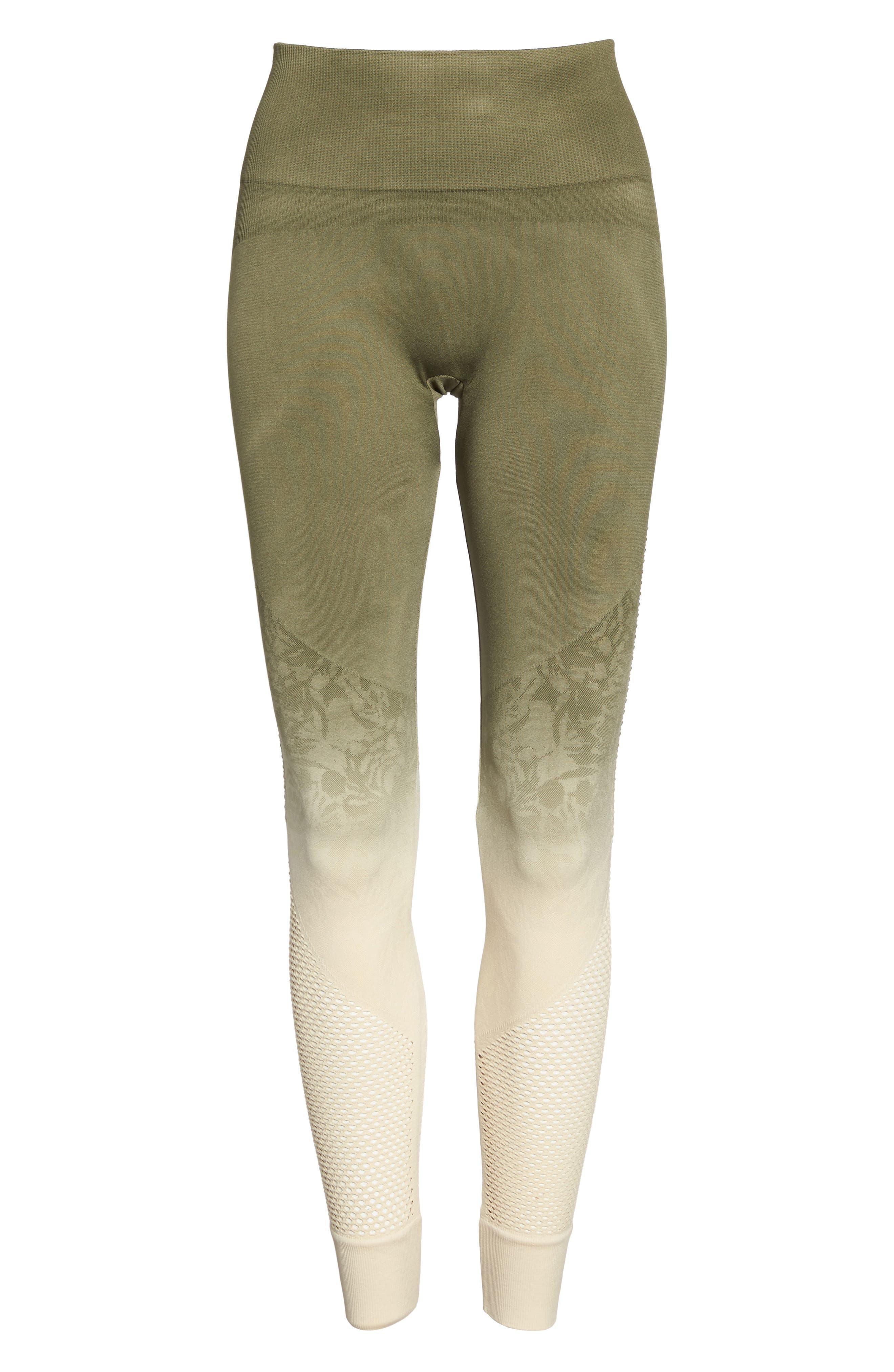 Formation High Waist Leggings,                             Alternate thumbnail 7, color,                             Tapioca W/ Deep Lichen Green