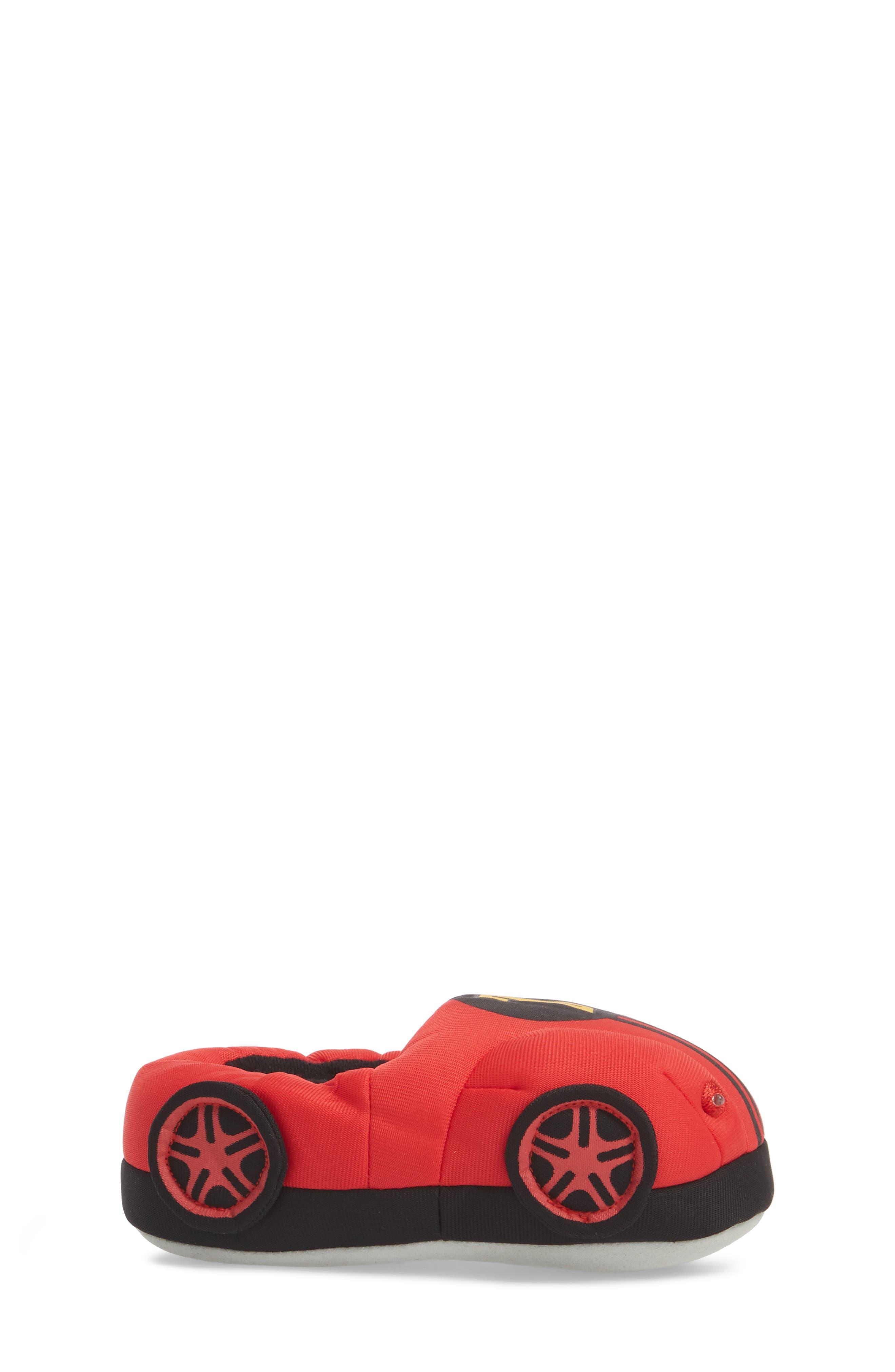 Light-Up Race Car Slipper,                             Alternate thumbnail 3, color,                             Red