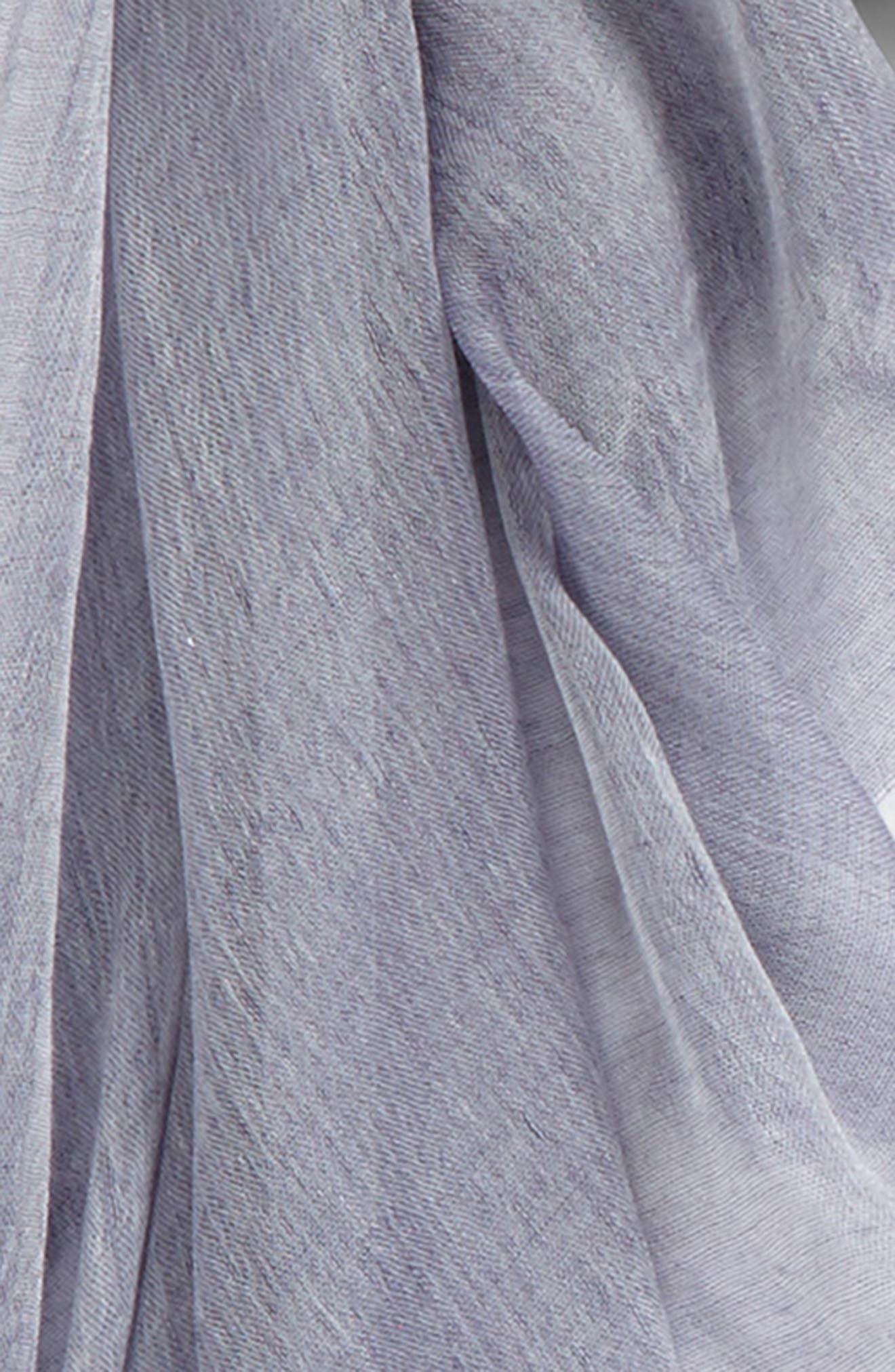 Modal Silk Blend Scarf,                             Alternate thumbnail 3, color,                             Navy Patriot Combo