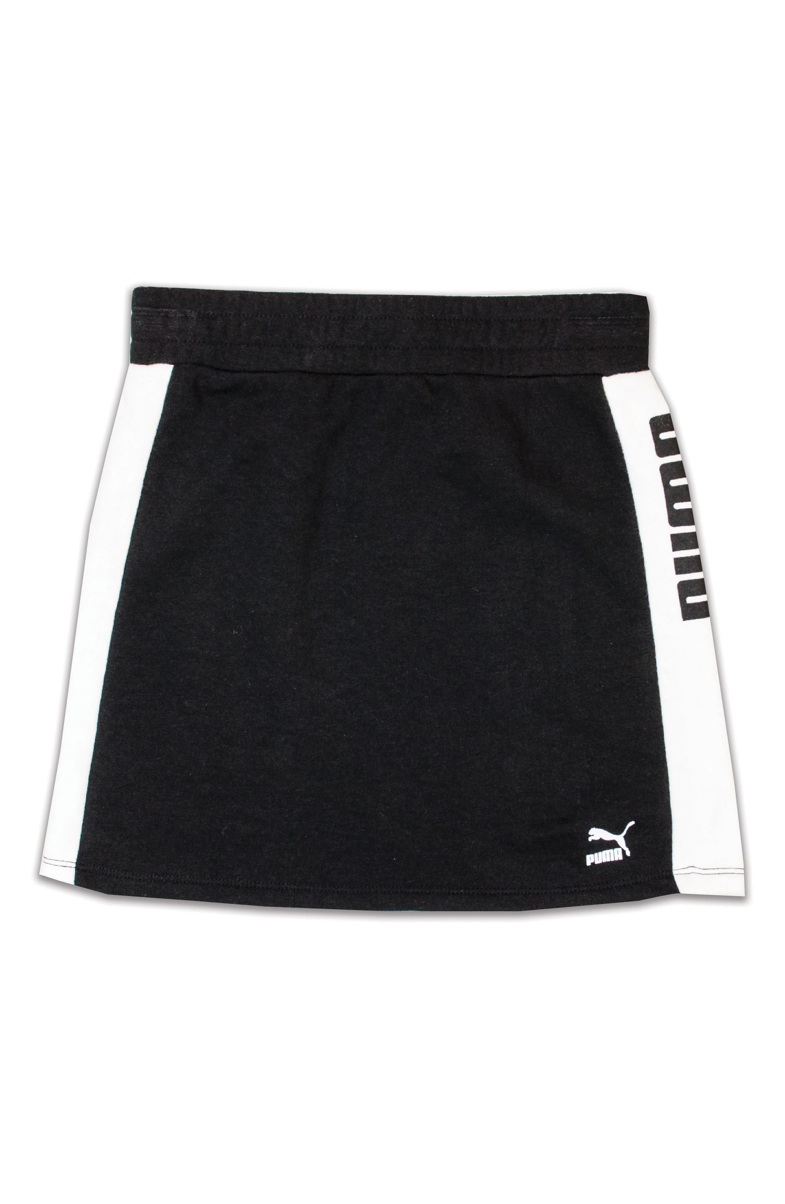 French Terry Skirt,                             Main thumbnail 1, color,                             Puma Black