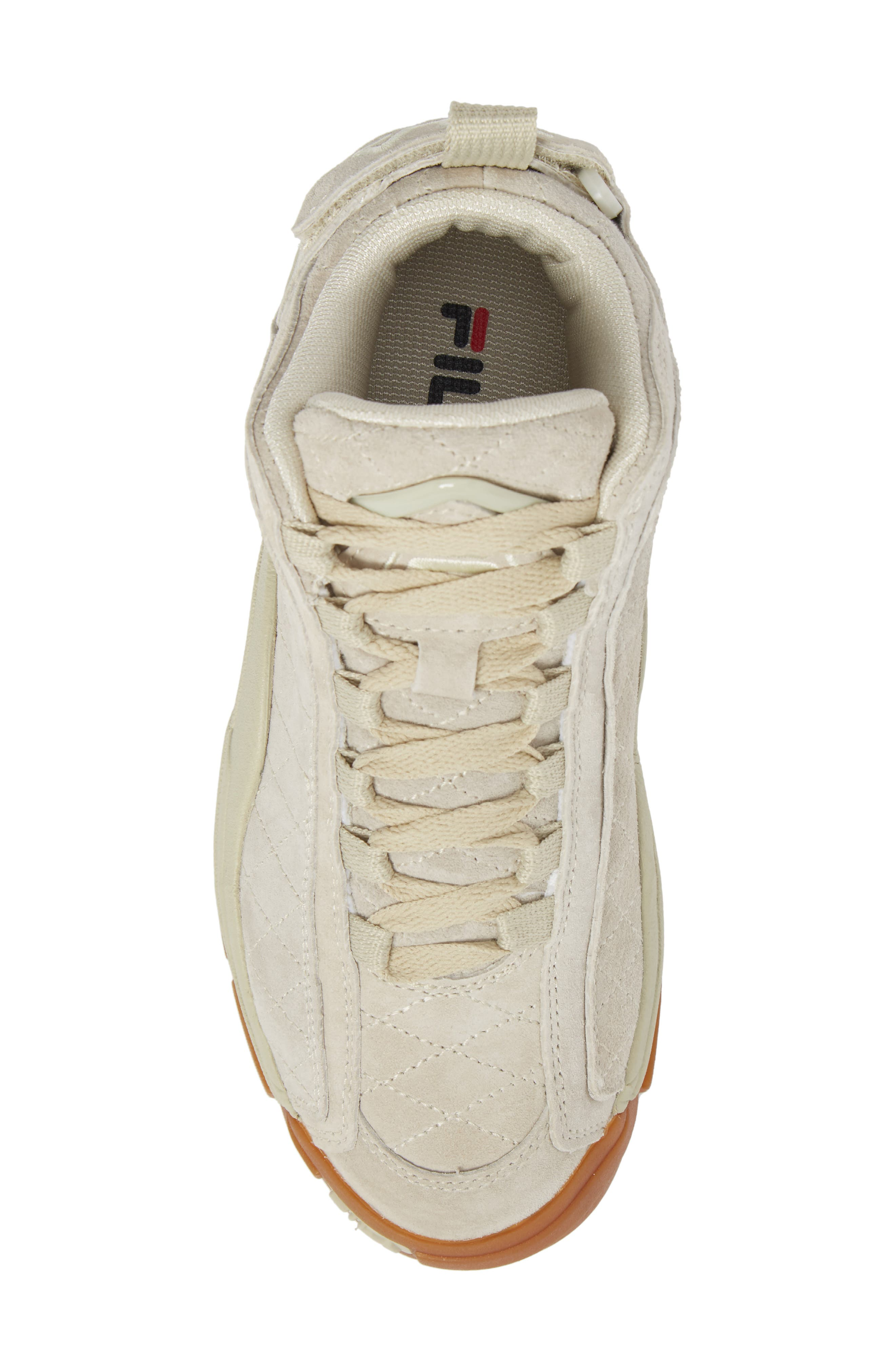 96 Quilted Mid-Top Sneaker,                             Alternate thumbnail 5, color,                             Cream/ Gum