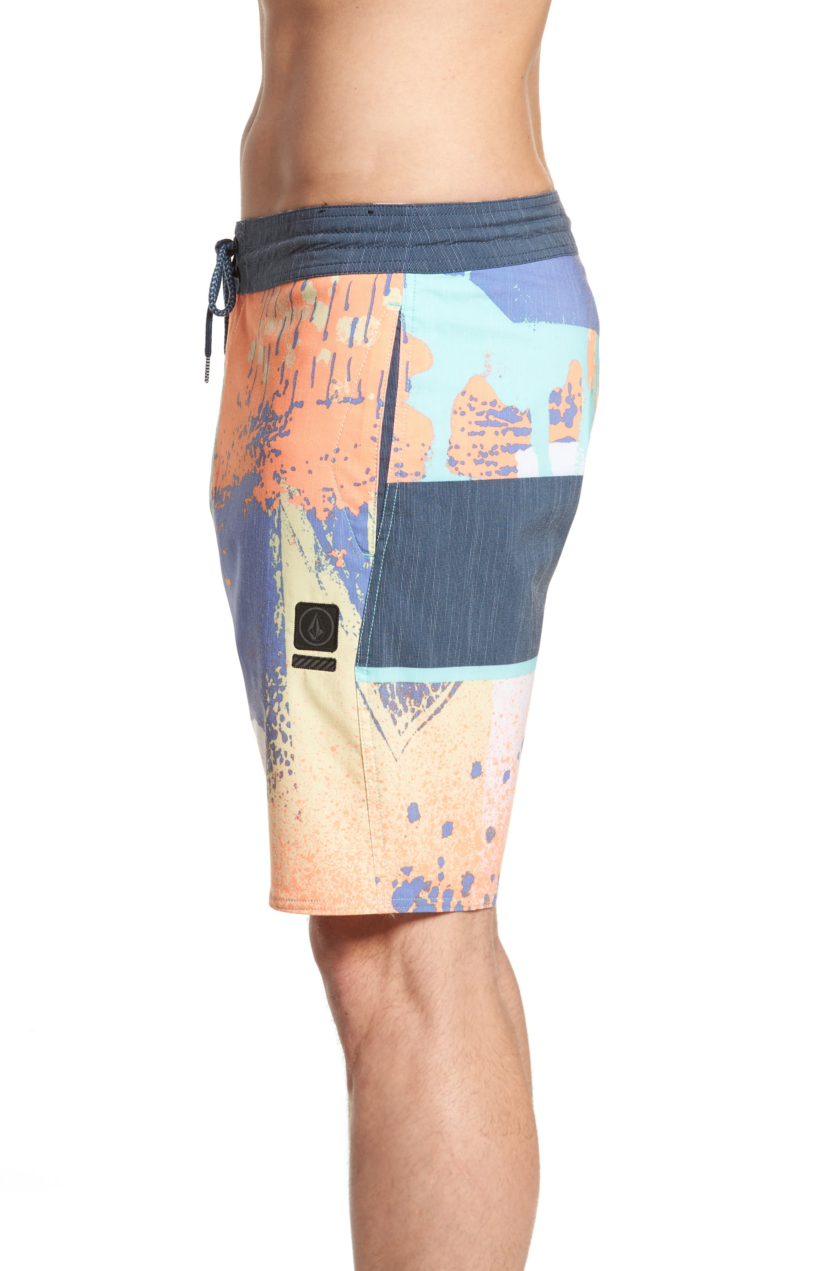 3 Quarta Board Shorts,                             Alternate thumbnail 3, color,                             Orange