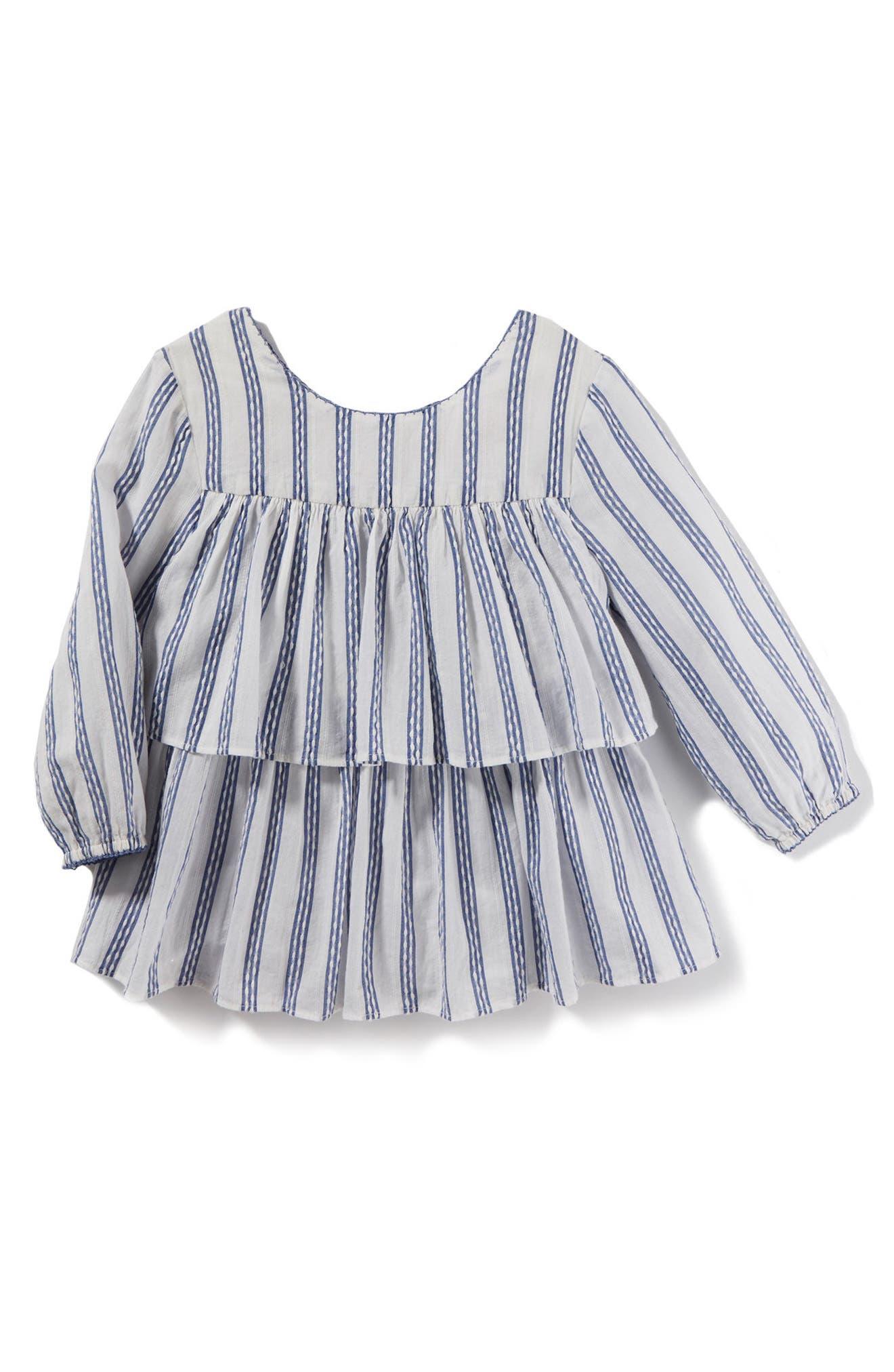 Peek Joyce Stripe Peplum Top (Toddler Girls, Little Girls & Big Girls)