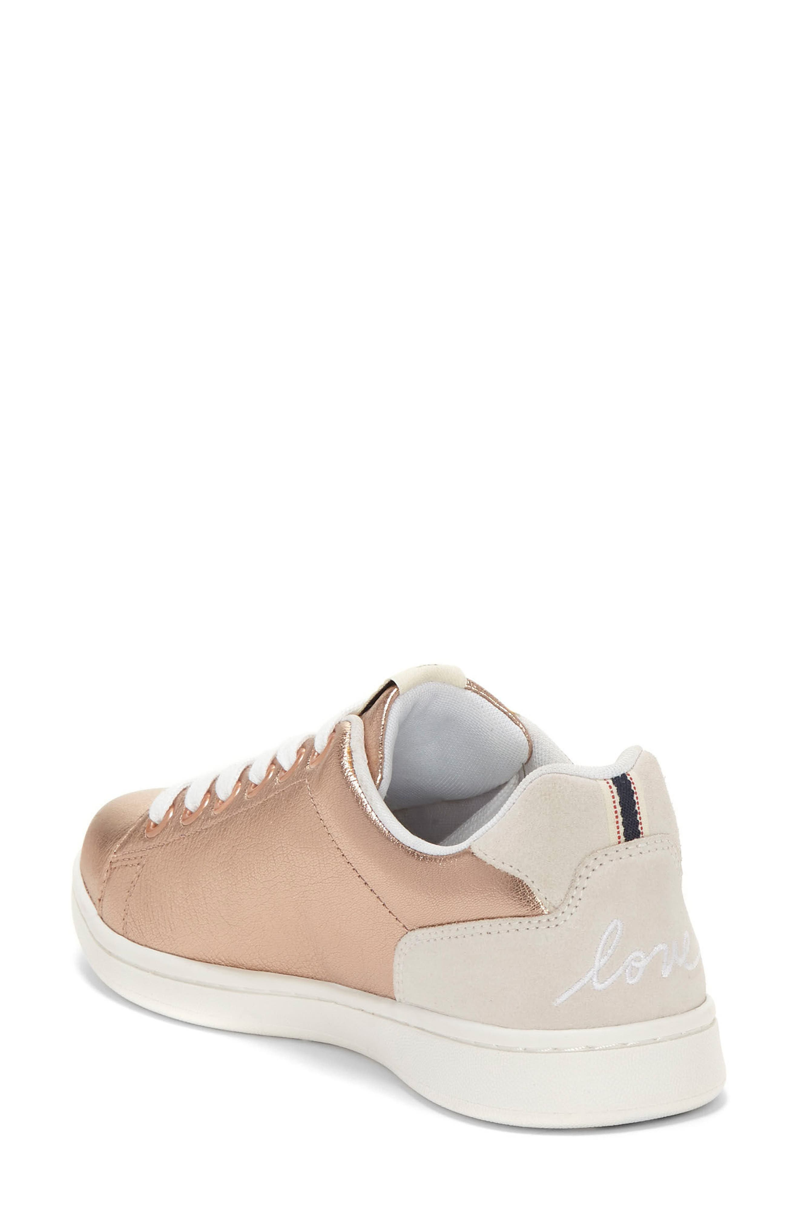 Chapunto Sneaker,                             Alternate thumbnail 3, color,                             Rose Gold Leather