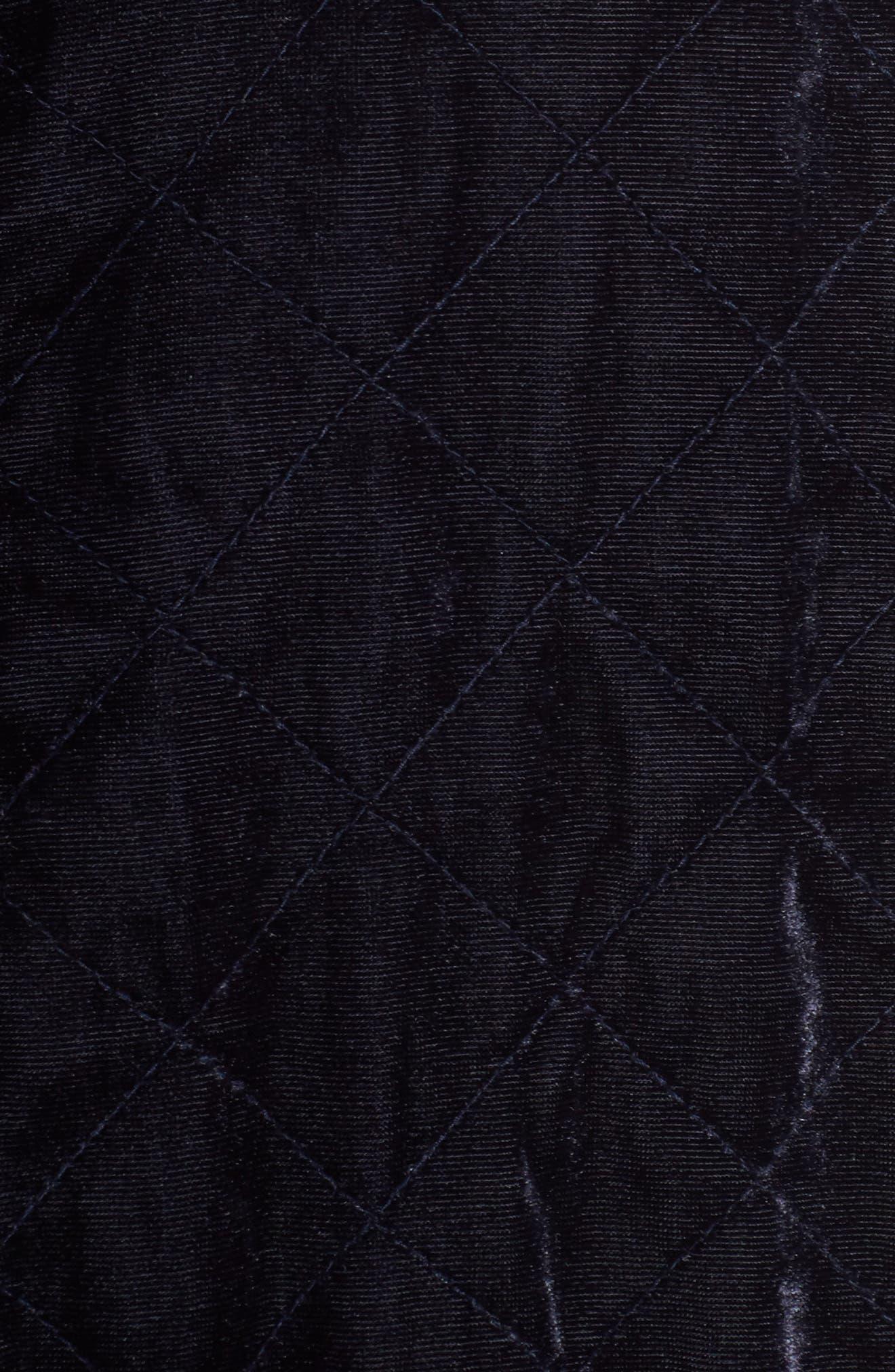 Quilted Velvet Jacket,                             Alternate thumbnail 5, color,                             Navy Night
