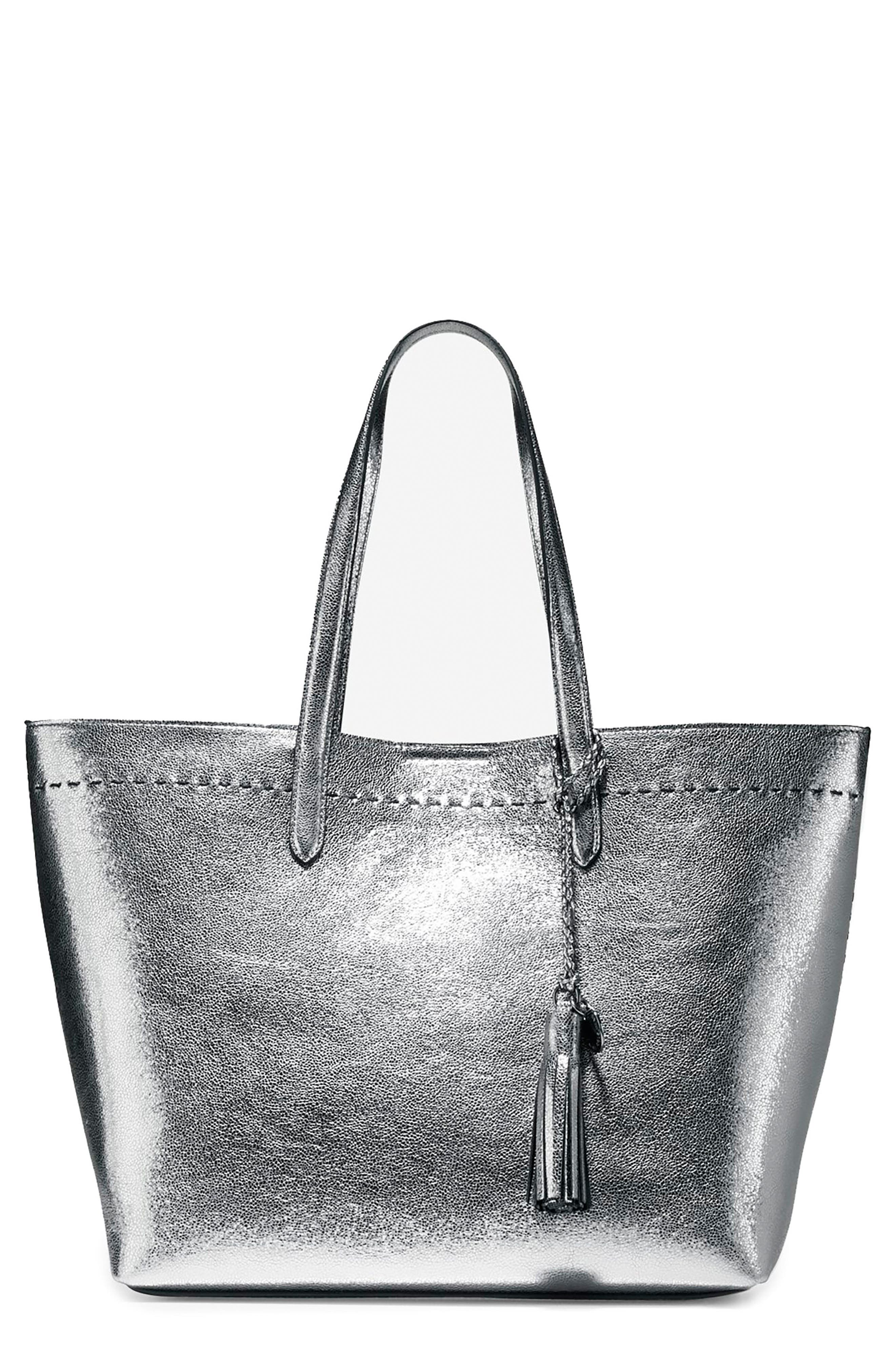 Alternate Image 1 Selected - Cole Haan Payson Metallic Leather Tote