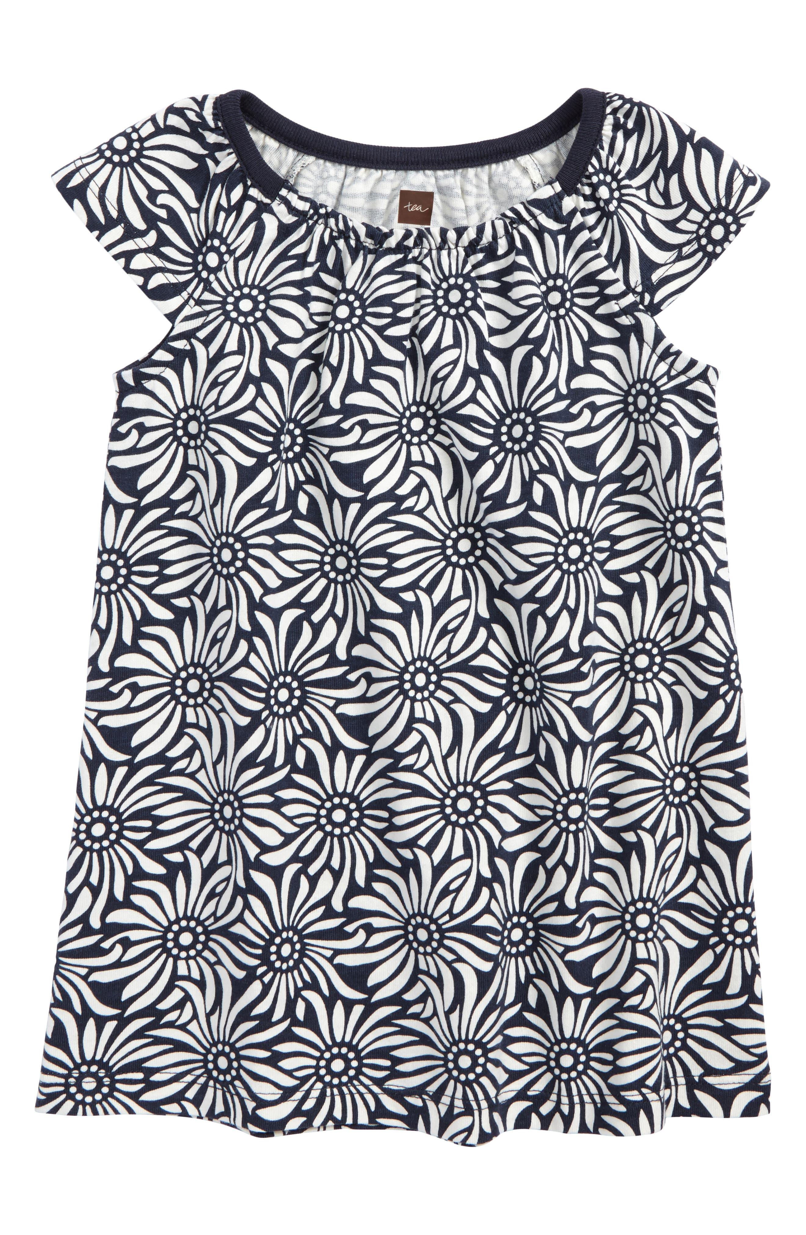 Daisy Field Shift Dress,                         Main,                         color, Indigo