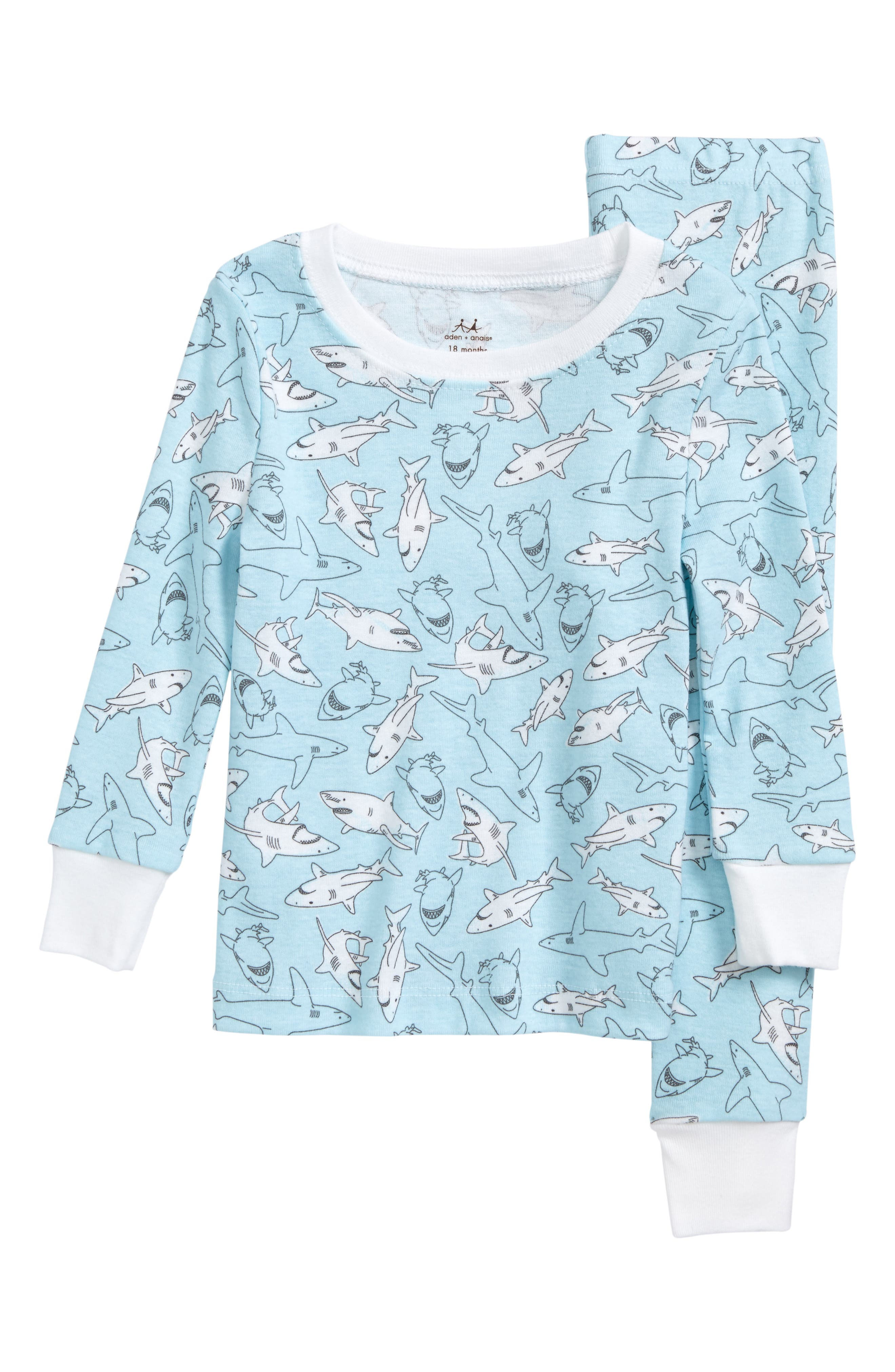 Main Image - aden + anais Fitted Two-Piece Pajamas (Baby Boys)