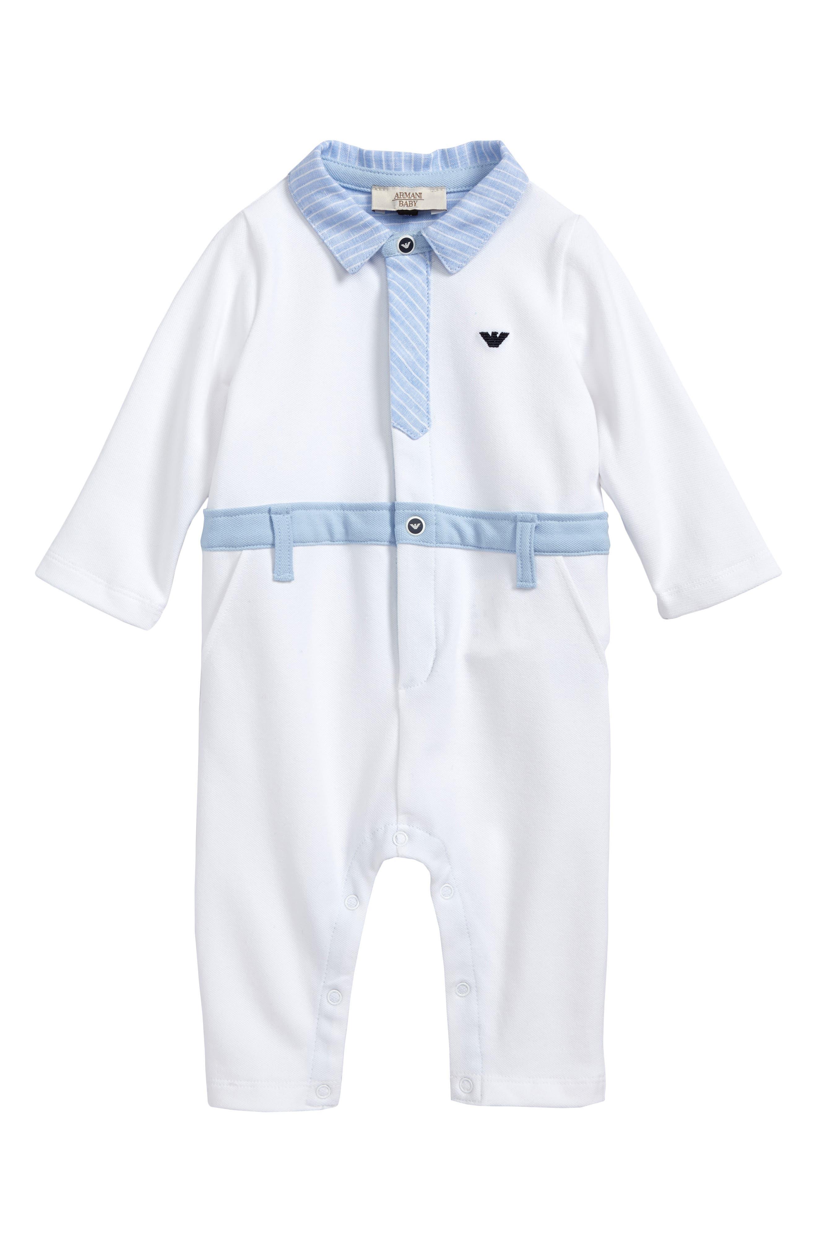 Armani Junior Tie Romper (Baby Boys)
