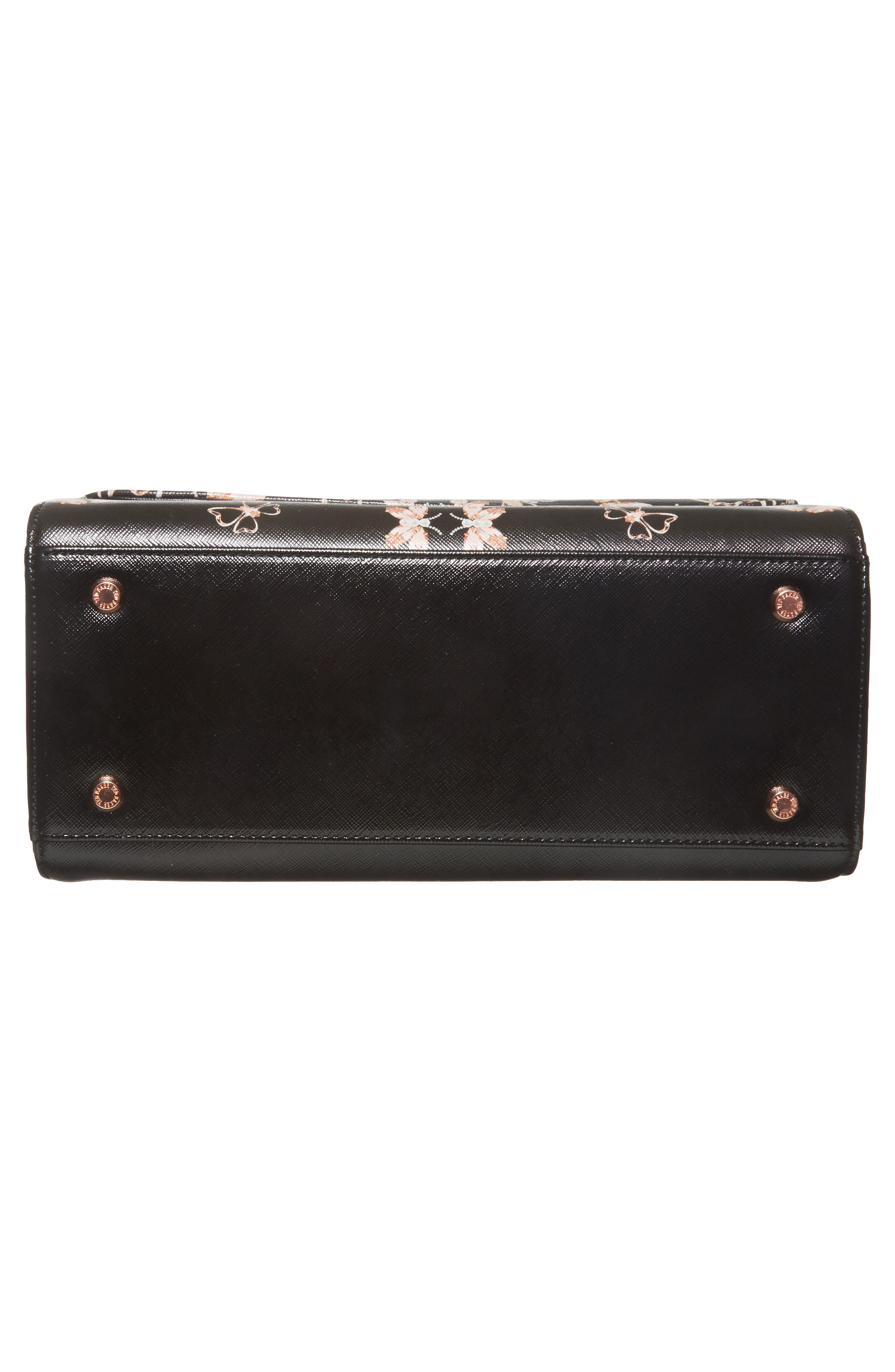 Alternate Image 6  - Ted Baker London Buzzy Queen Bee Faux Leather Satchel