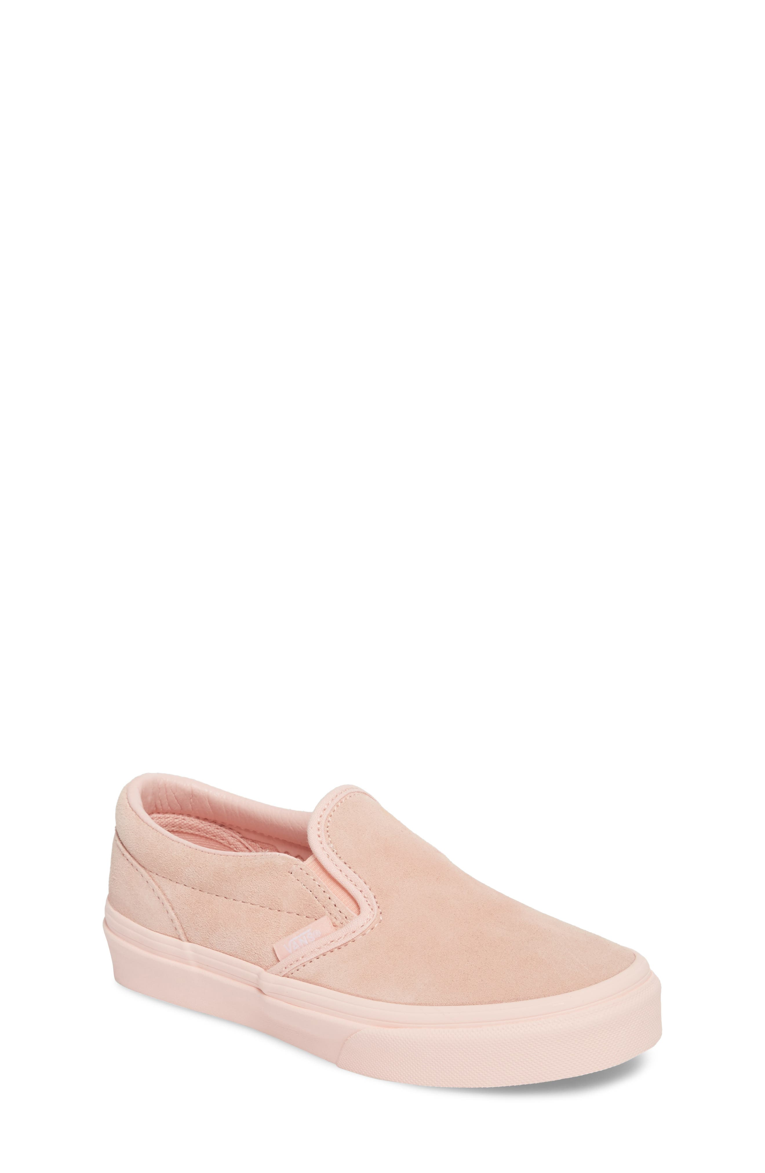 Classic Slip-On Sneaker,                             Main thumbnail 1, color,                             Suede Mono/ English Rose