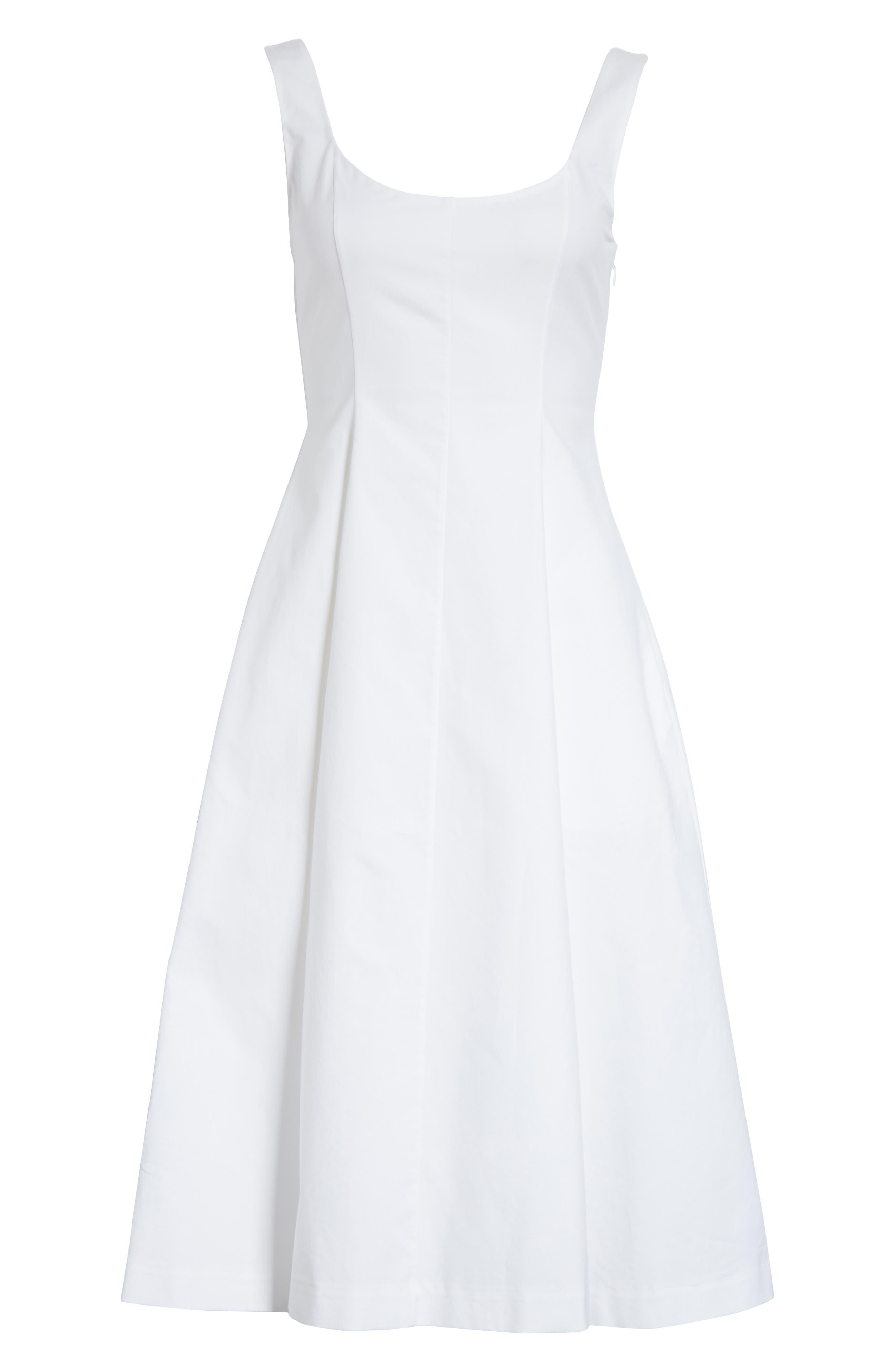 Cindy Poplin Tank Dress,                             Alternate thumbnail 7, color,                             White
