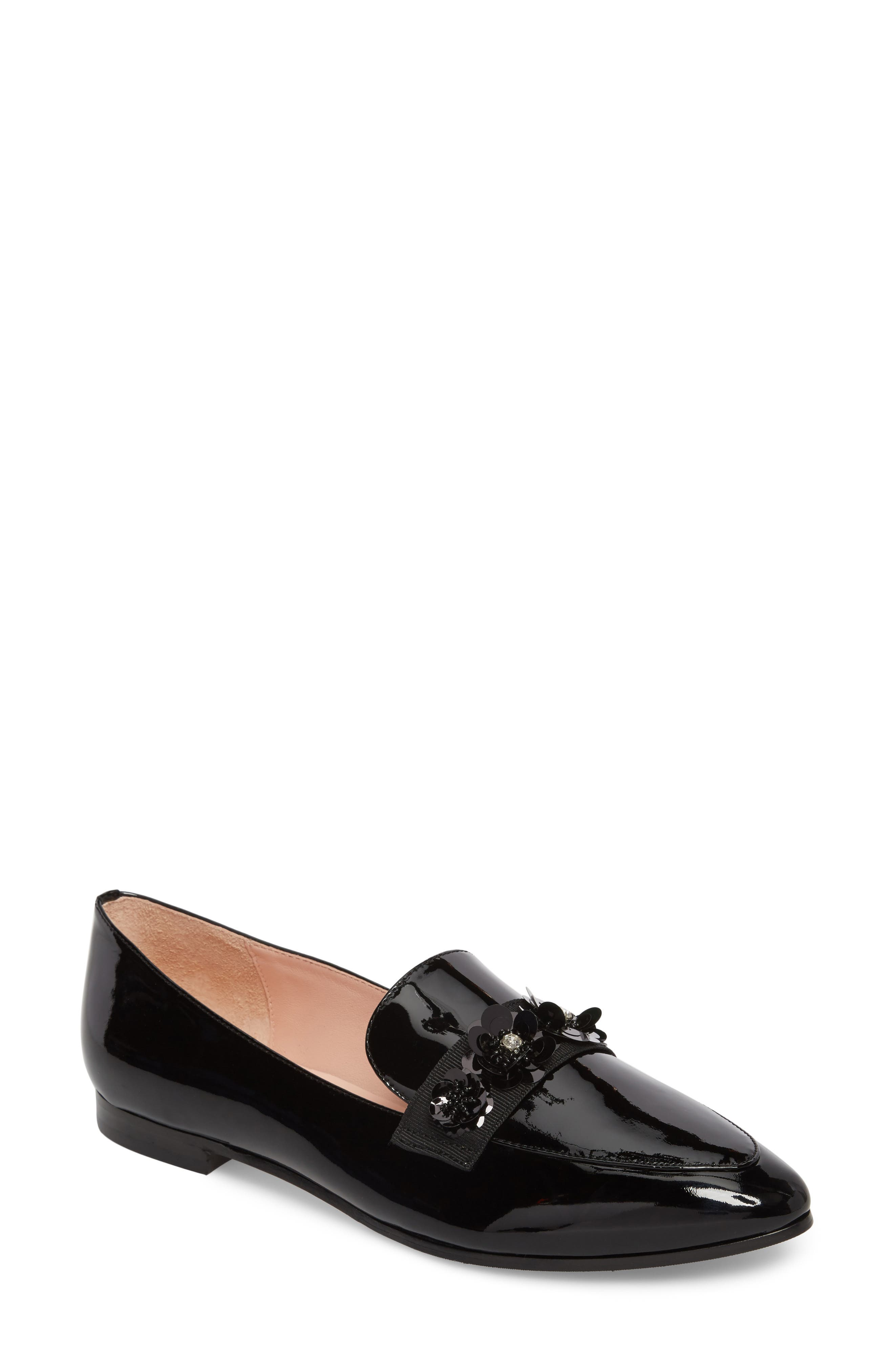3f441aaac31d Kate Spade Cleo Embellished Loafer In Black Patent