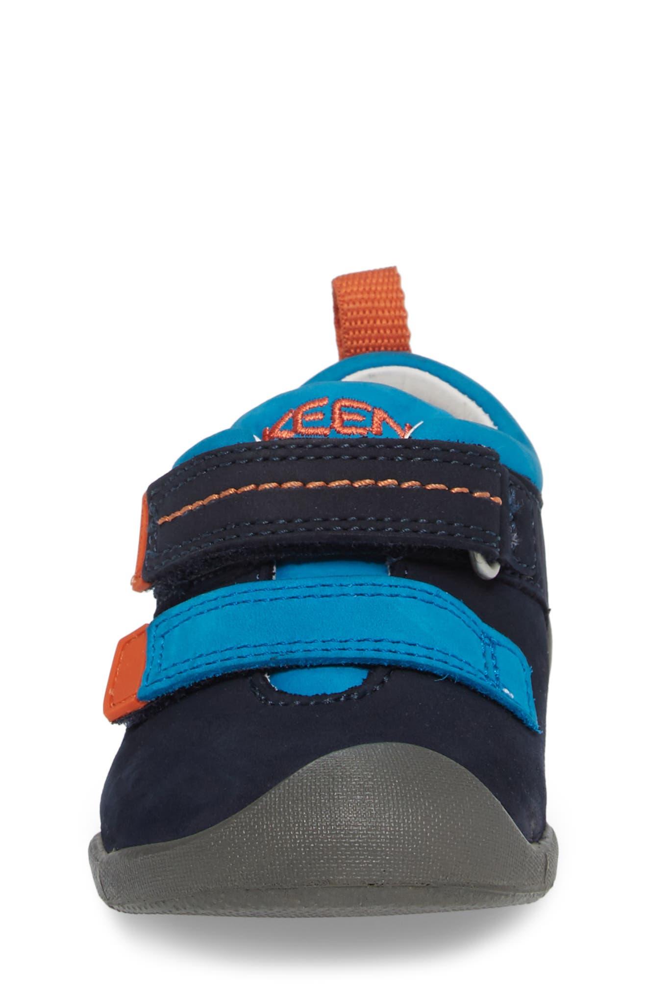 Pep Double Strap-T Sneaker,                             Alternate thumbnail 4, color,                             Dress Blues/ Koi