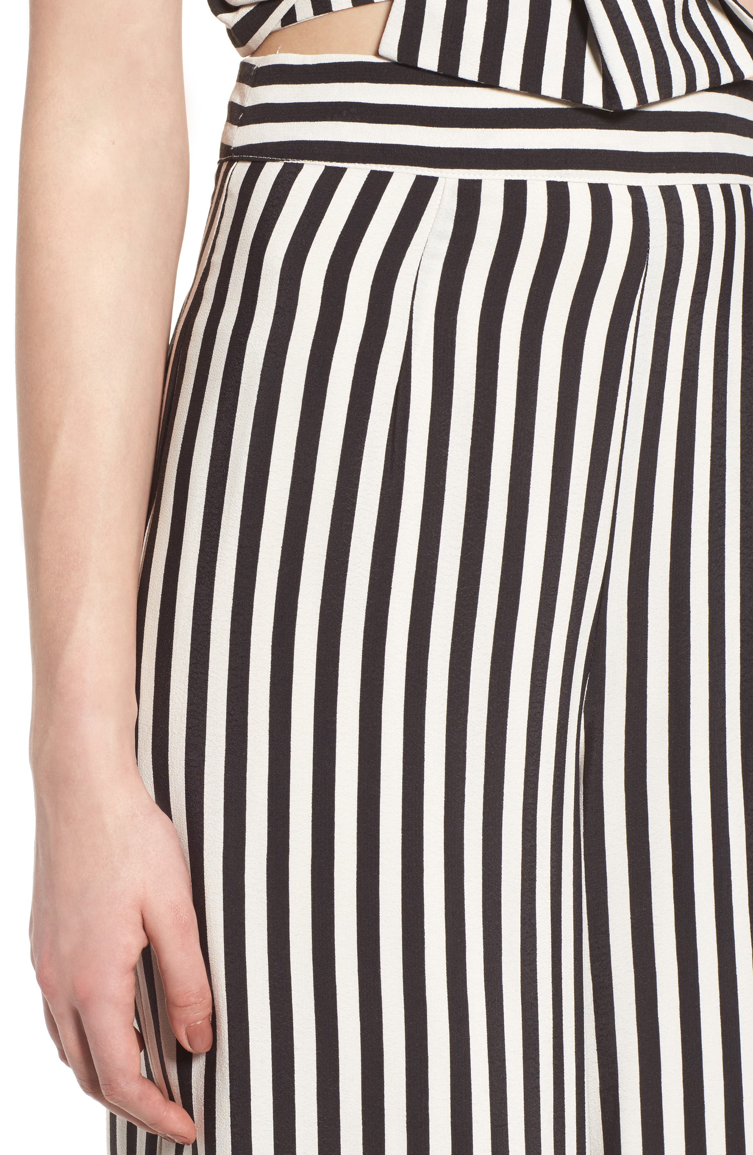 Chica Crop Pants,                             Alternate thumbnail 5, color,                             Bold Stripe