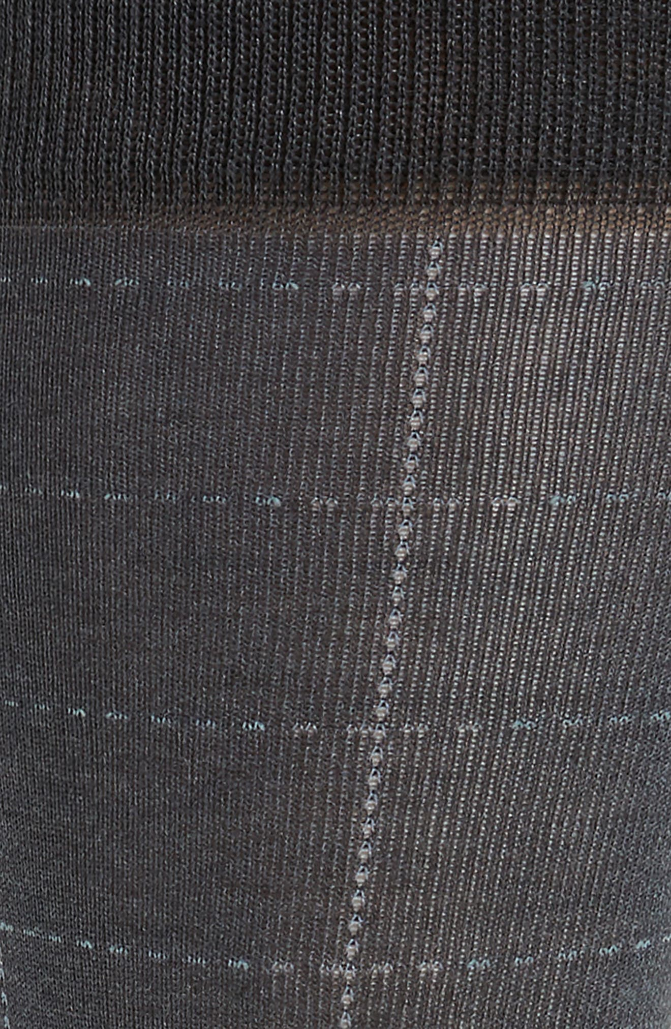 Broken Grid Socks,                             Alternate thumbnail 2, color,                             Charcoal Heather