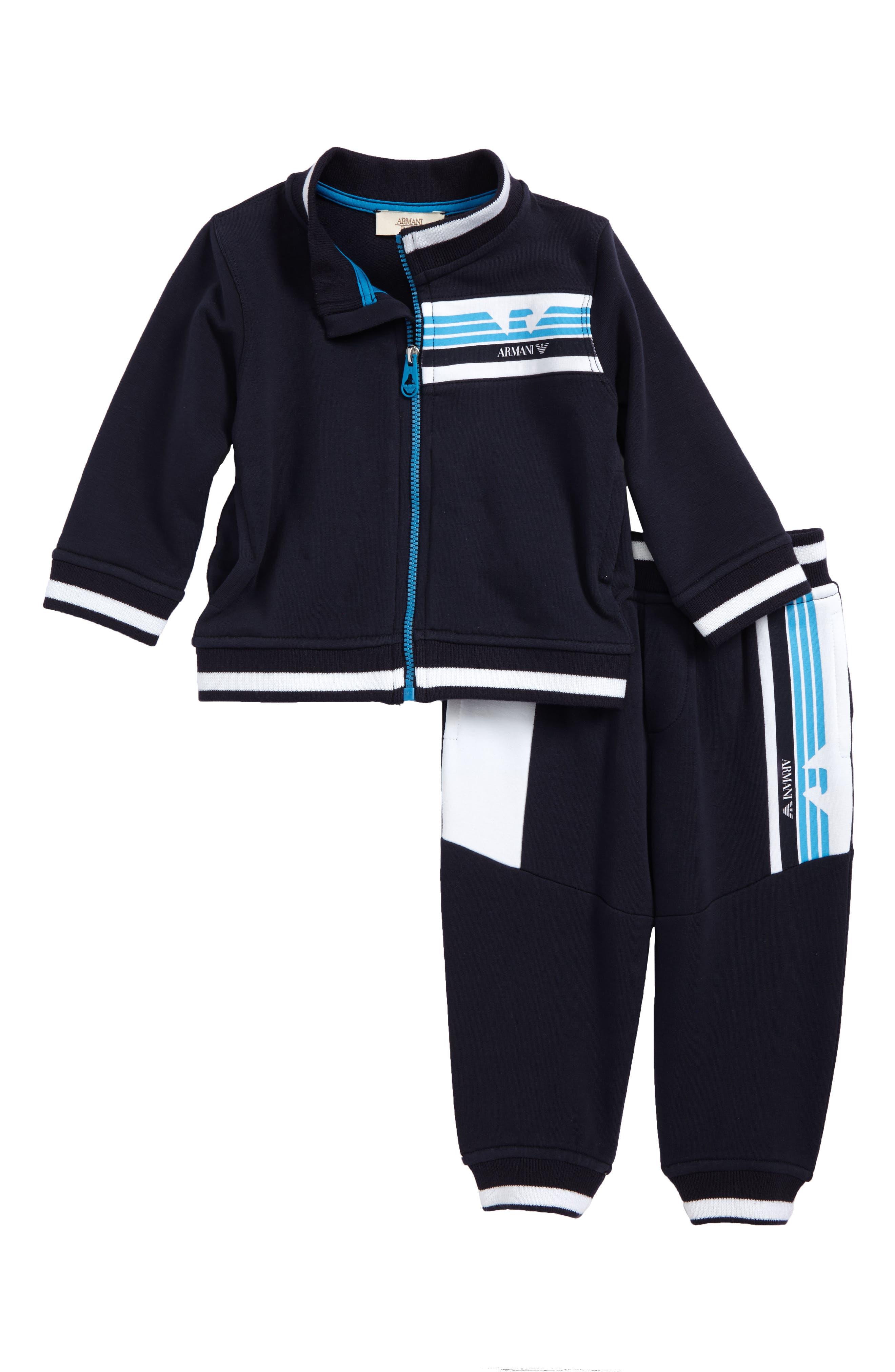 Logo Jacket & Track Pants Set,                             Main thumbnail 1, color,                             Navy