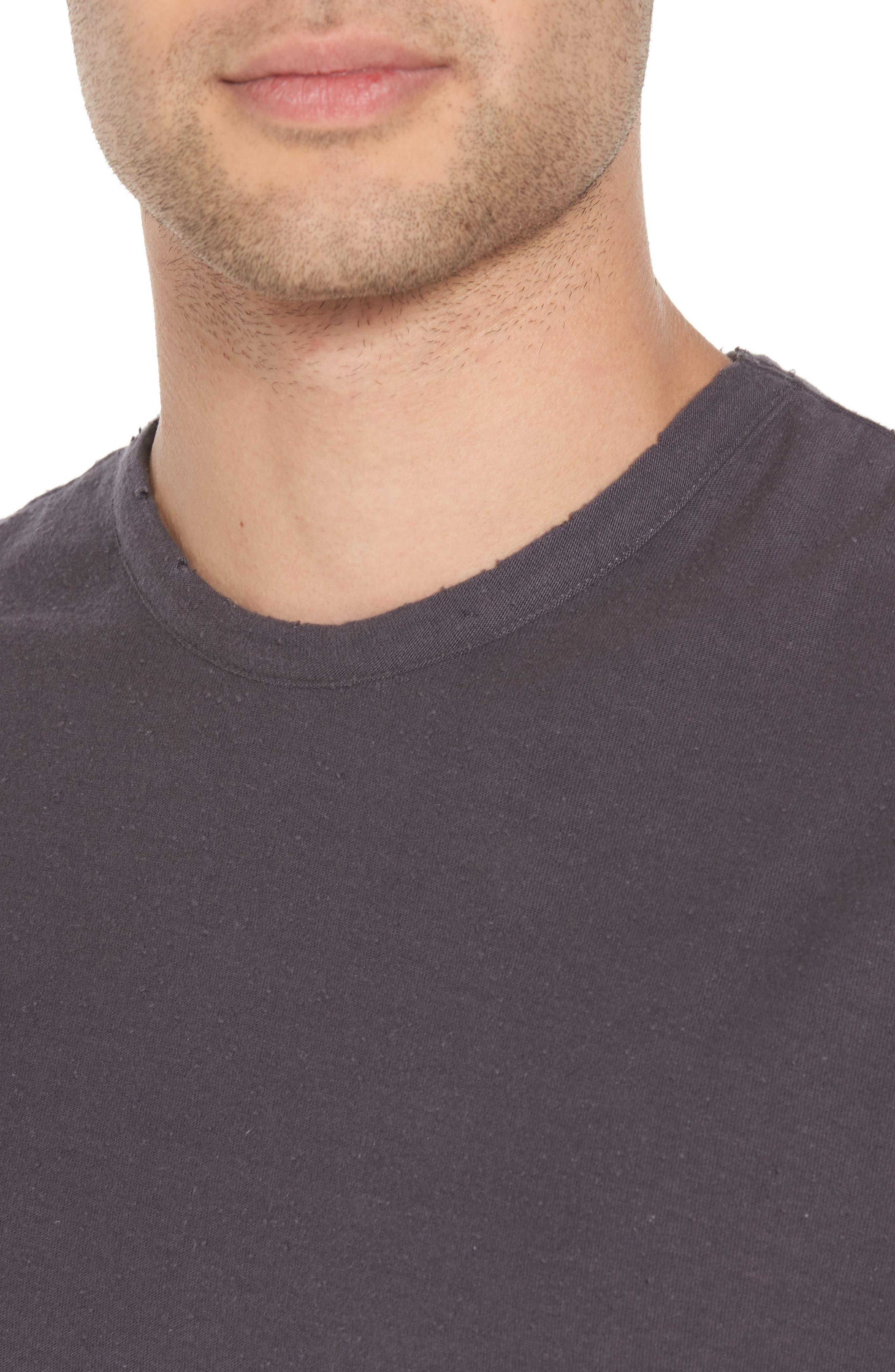 Nep Crewneck T-Shirt,                             Alternate thumbnail 4, color,                             Grey Stonehenge