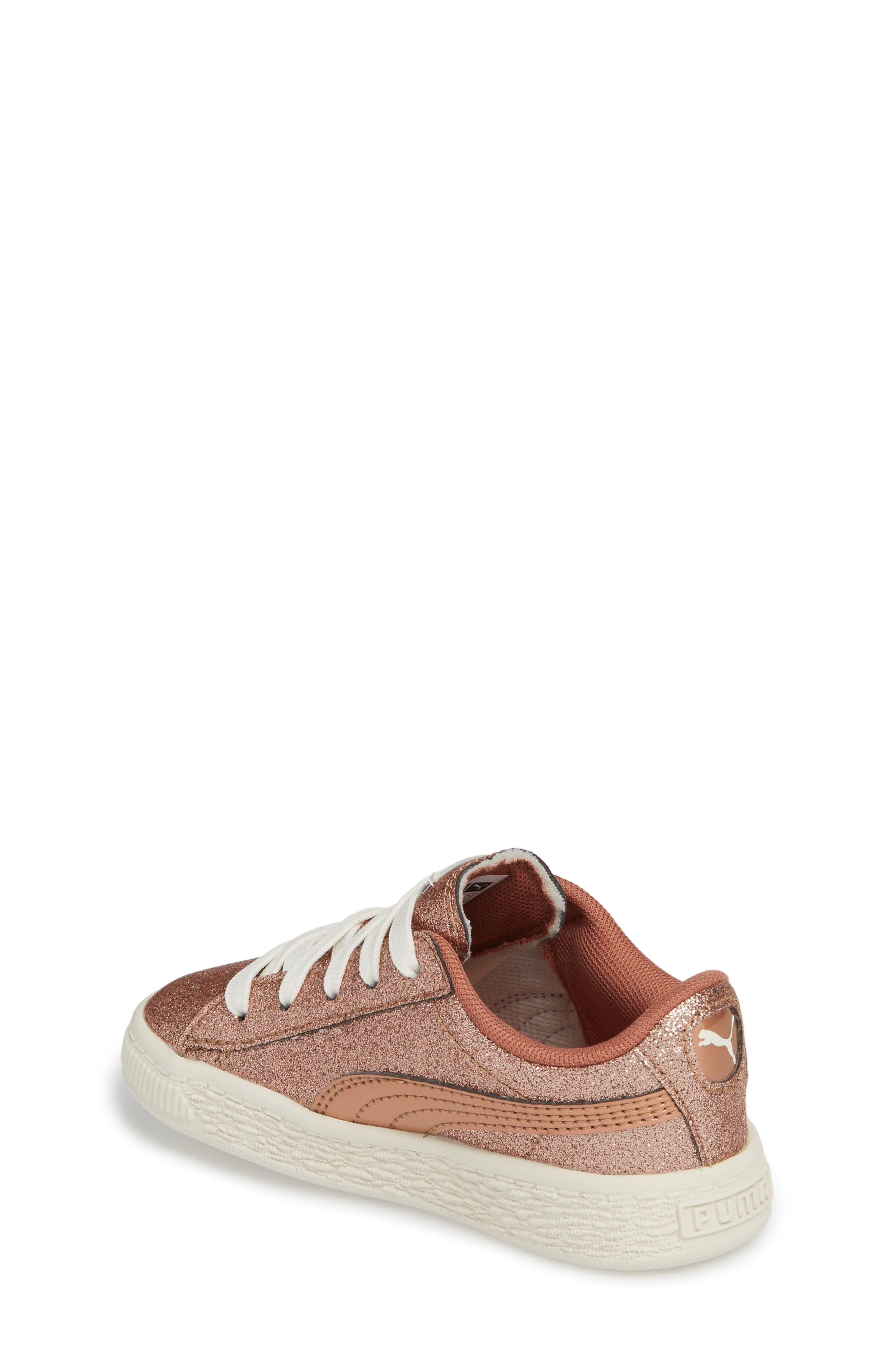 Basket Holiday Glitz Jr. Sneaker,                             Alternate thumbnail 2, color,                             Copper Rose