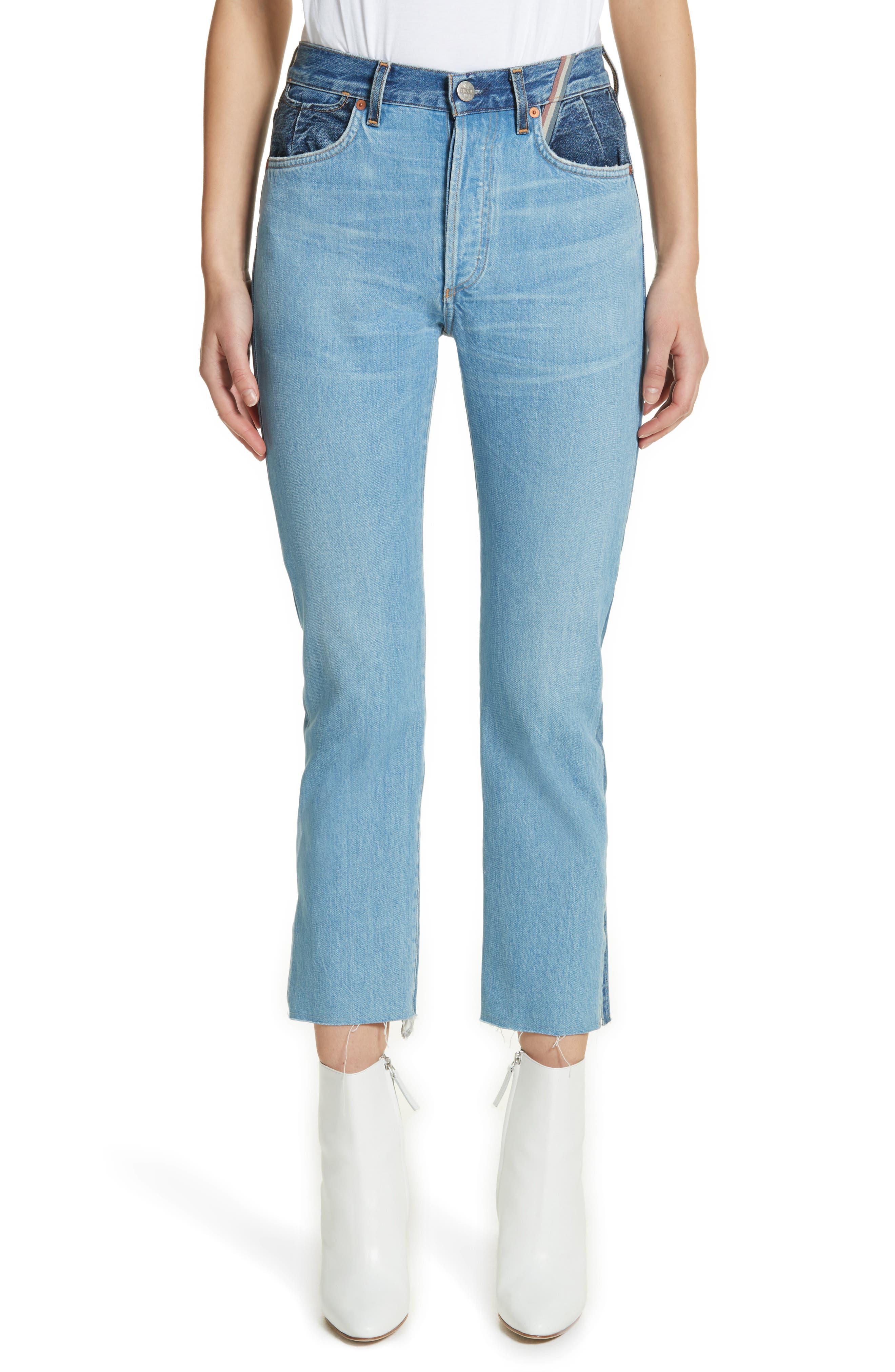 Jean Atelier Hunter High Rise Straight Leg Crop Jeans (Jagger)