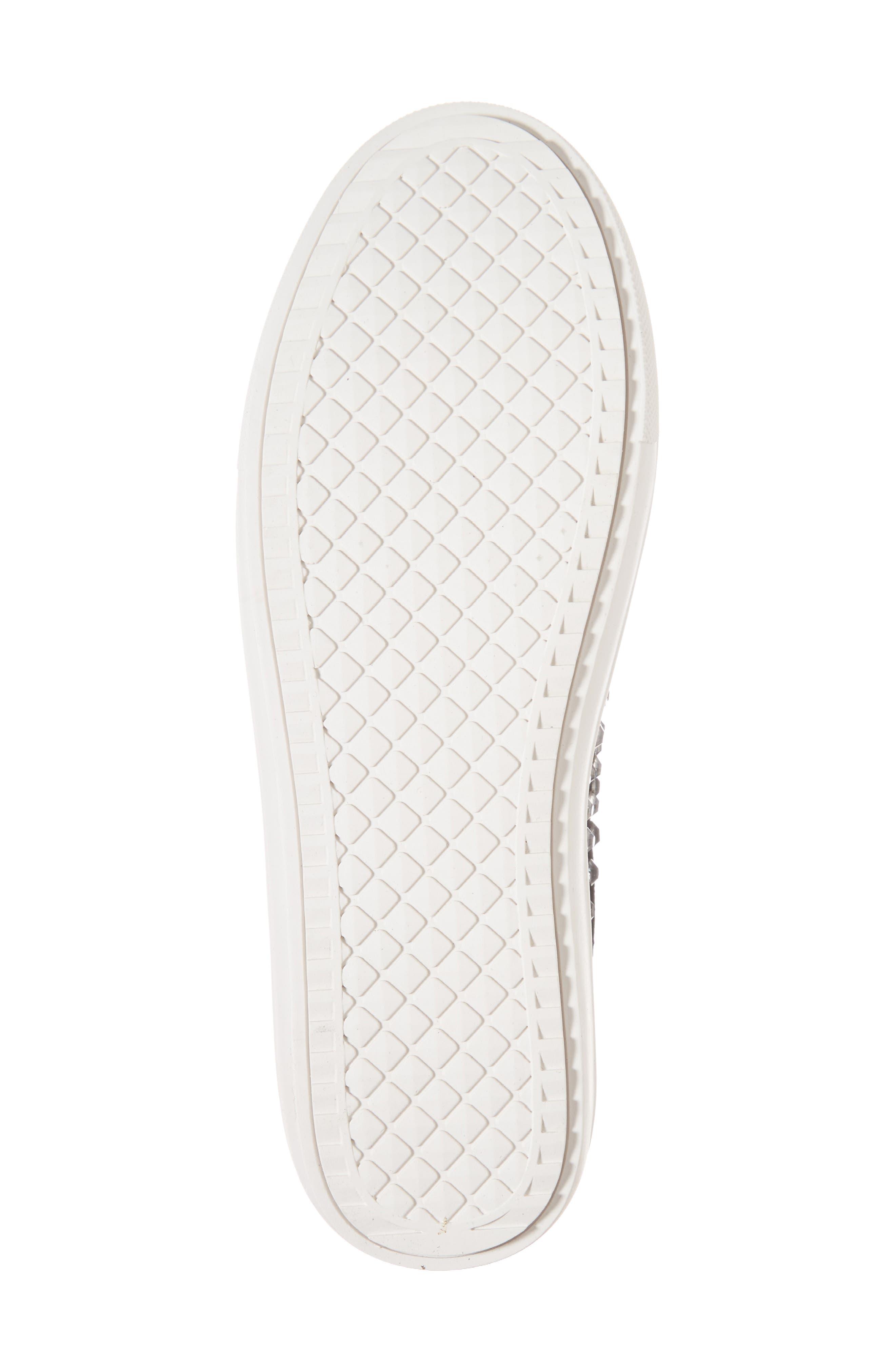Sherry Crystal Embellished Sneaker,                             Alternate thumbnail 6, color,                             Black Multi Fabric