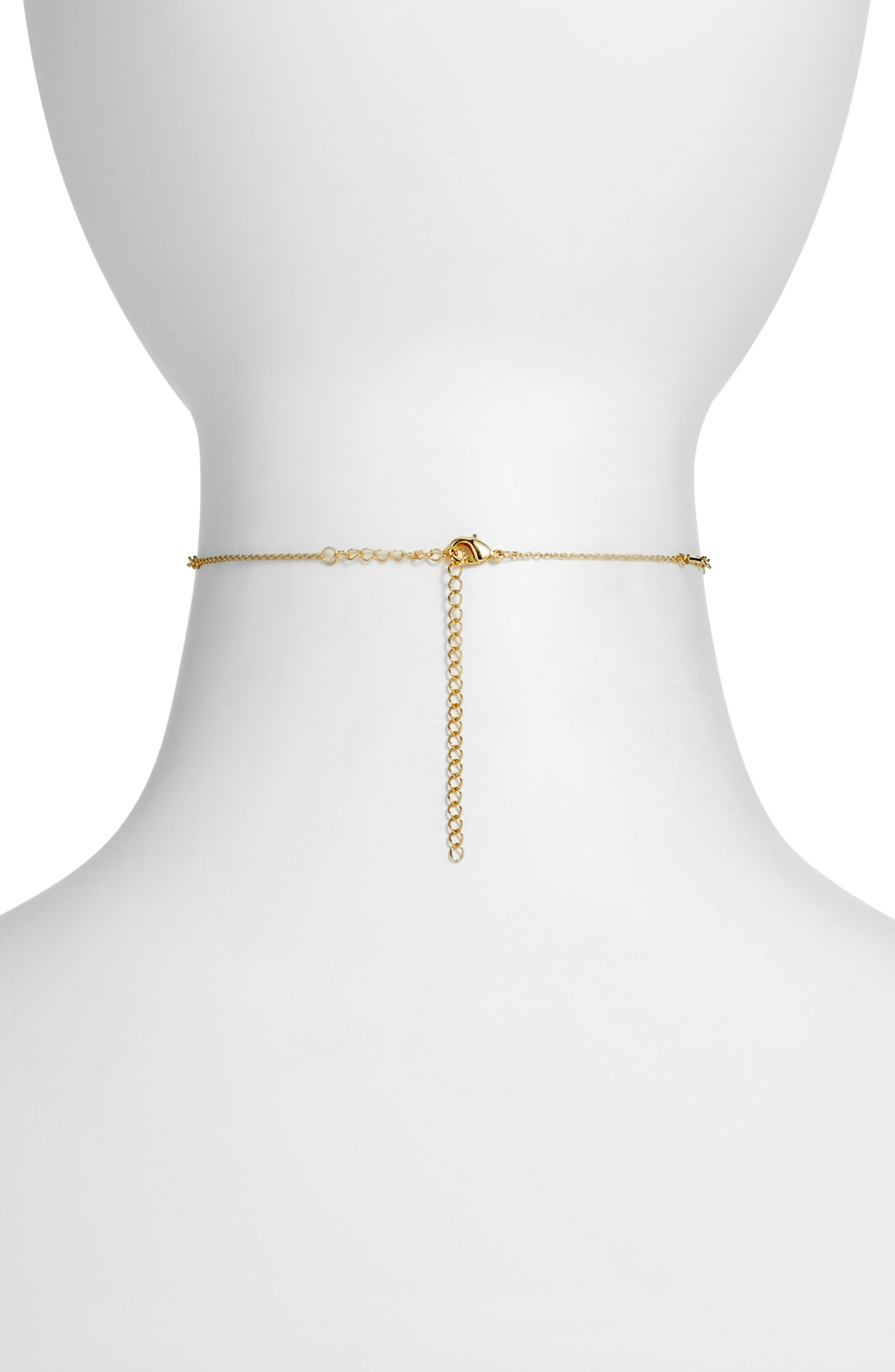 Maria Choker Necklace,                             Alternate thumbnail 2, color,                             Gold