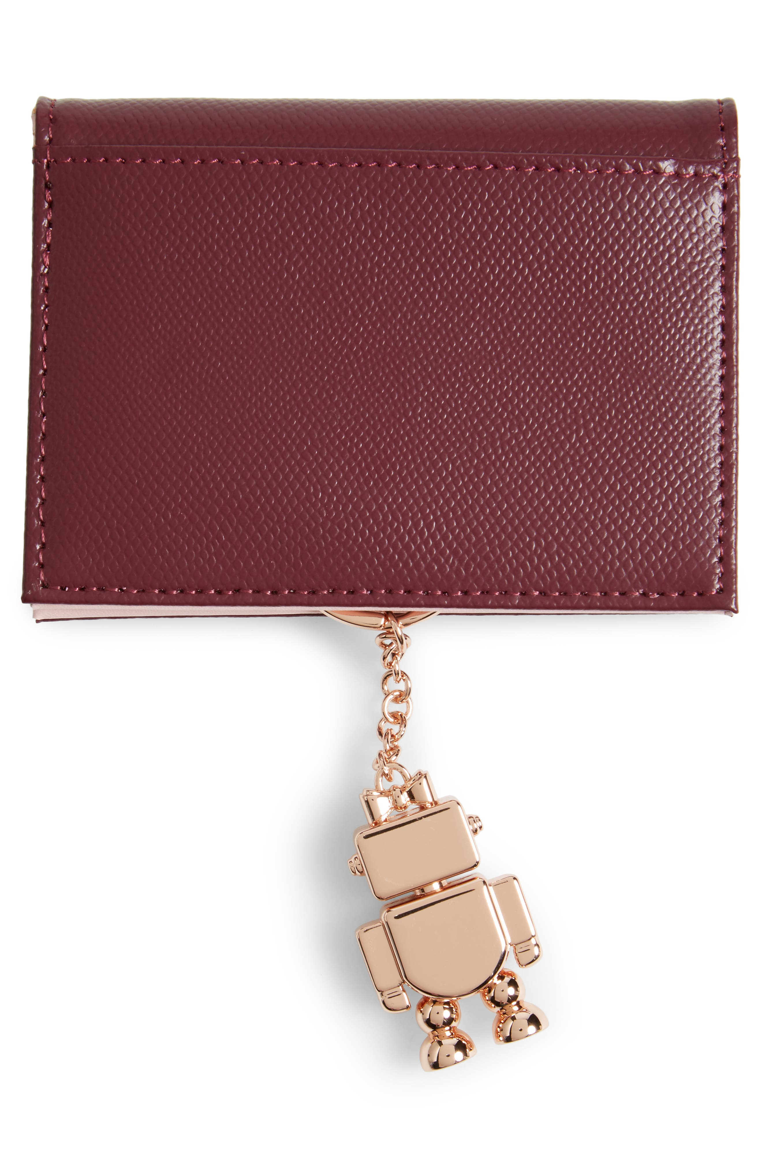 Alternate Image 3  - Ted Baker London Leather Card Case with Robot Key Chain
