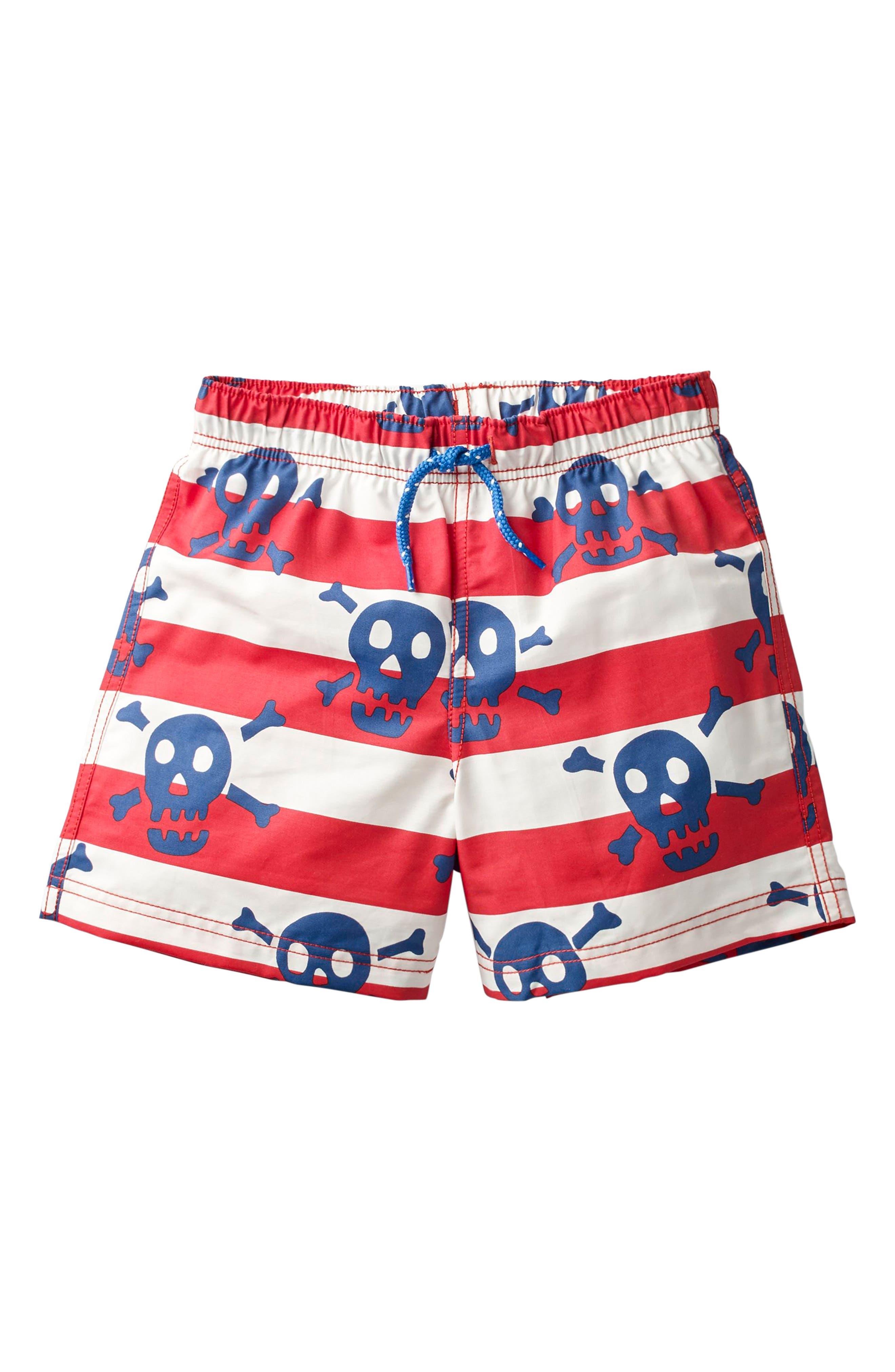 Mini Boden Bathers Skulls Swim Trunks (Toddler Boys, Little Boys & Big Boys)
