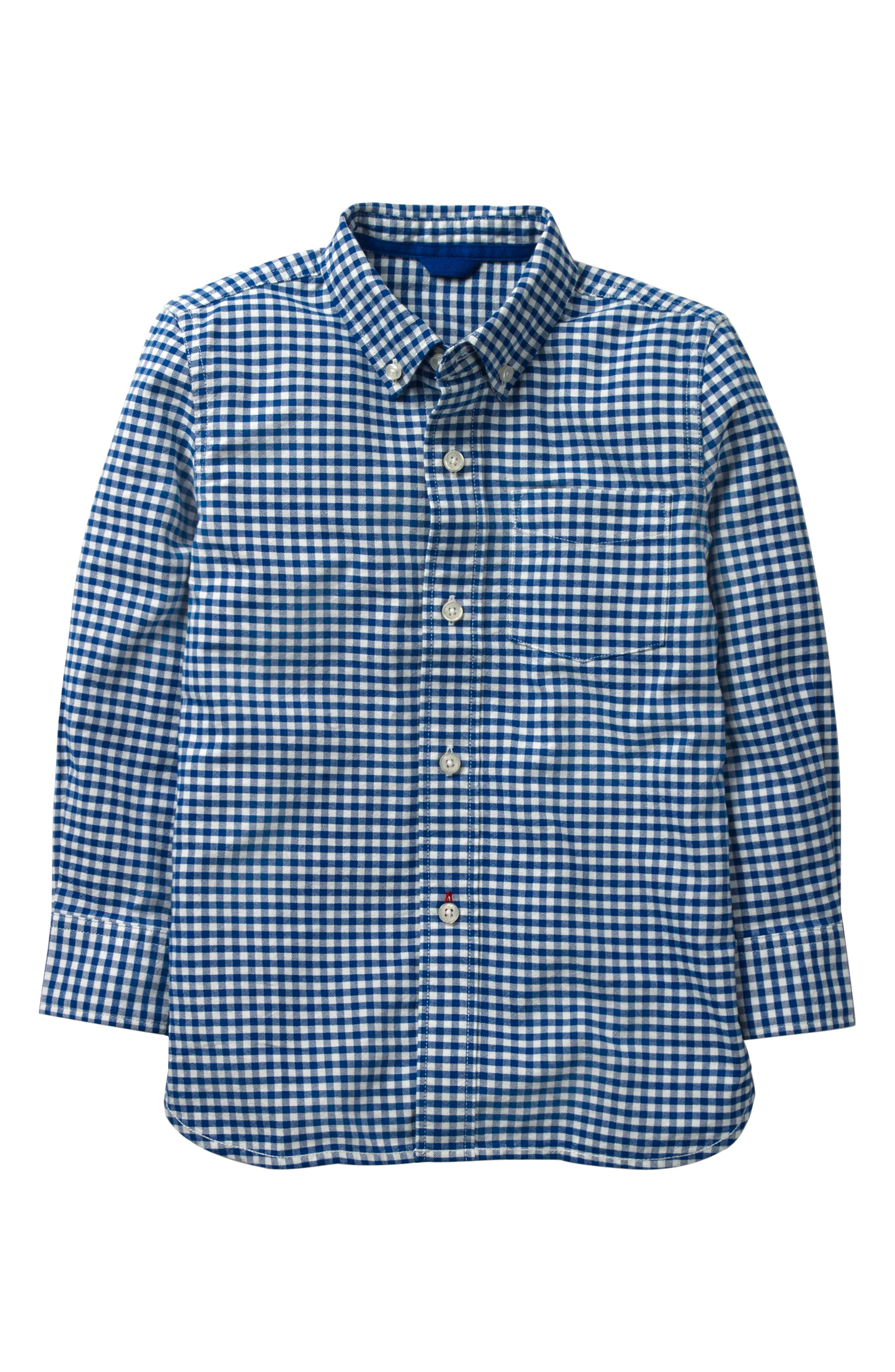 Gingham Oxford Shirt,                         Main,                         color, Orion Blue Gingham