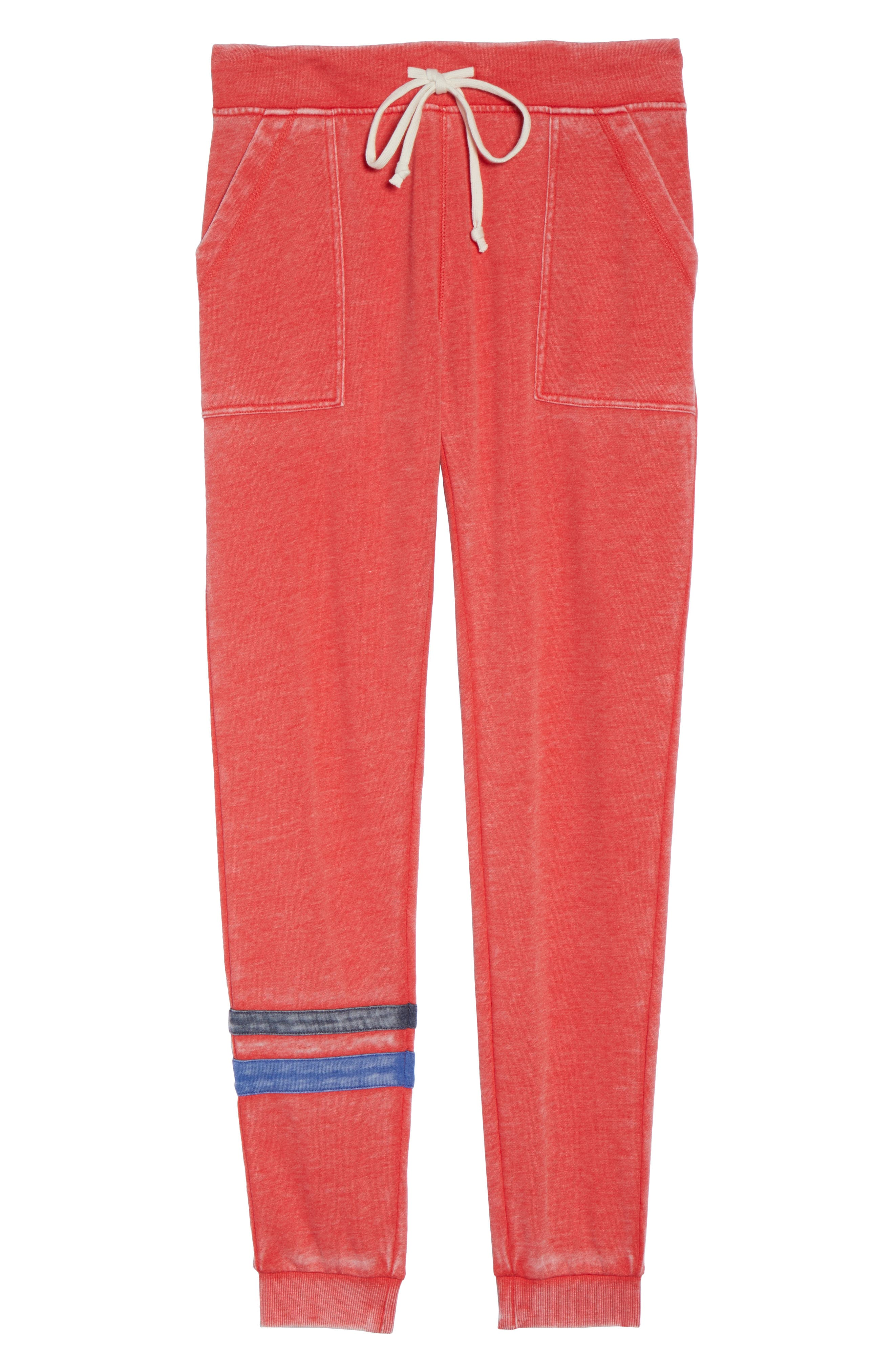 Long Weekend Lounge Jogger Pants,                             Alternate thumbnail 4, color,                             Red Bloom/ Dark Navy/ Blue