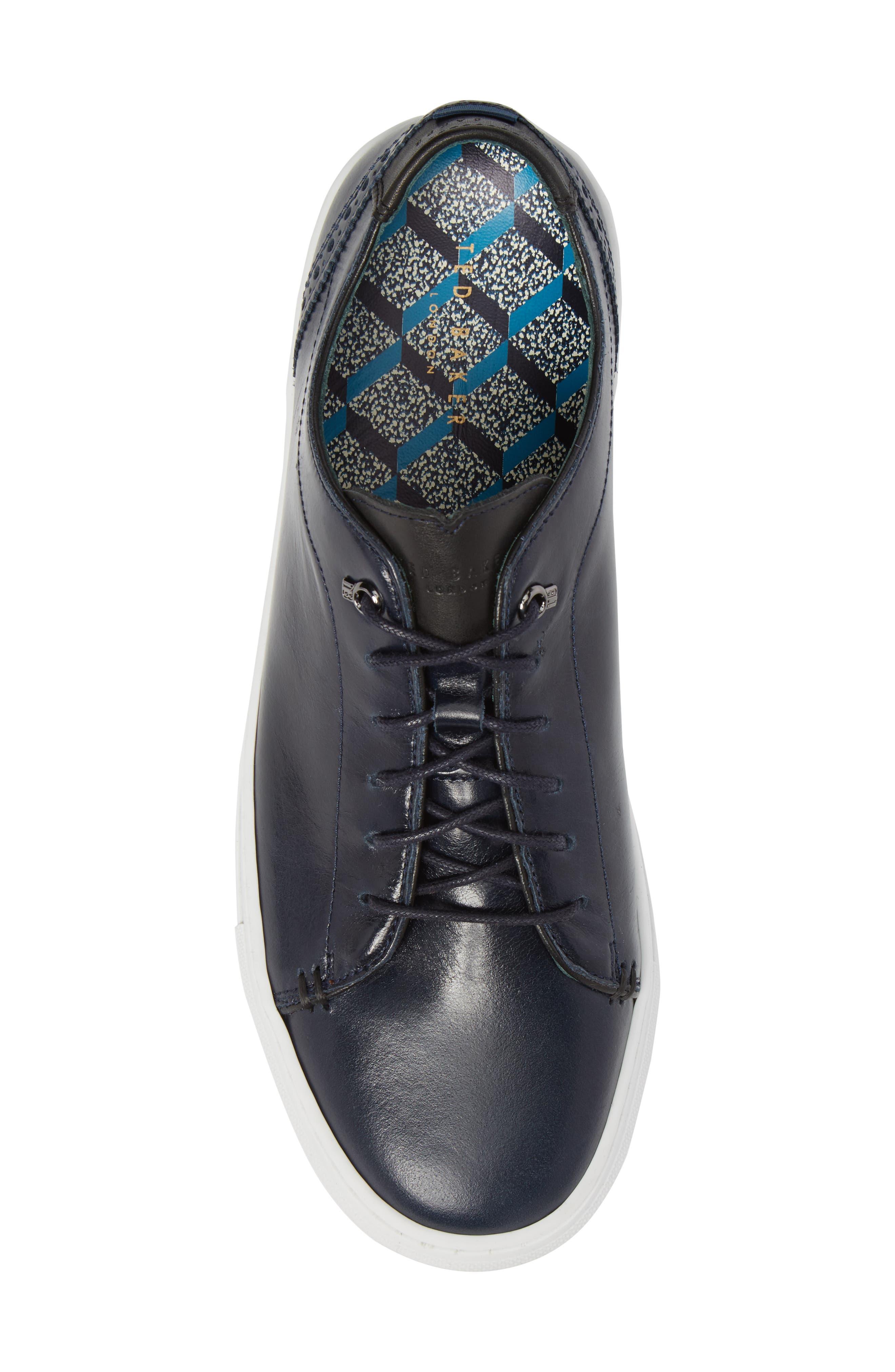 Duuke 2 Sneaker,                             Alternate thumbnail 5, color,                             Midnight Blue Leather
