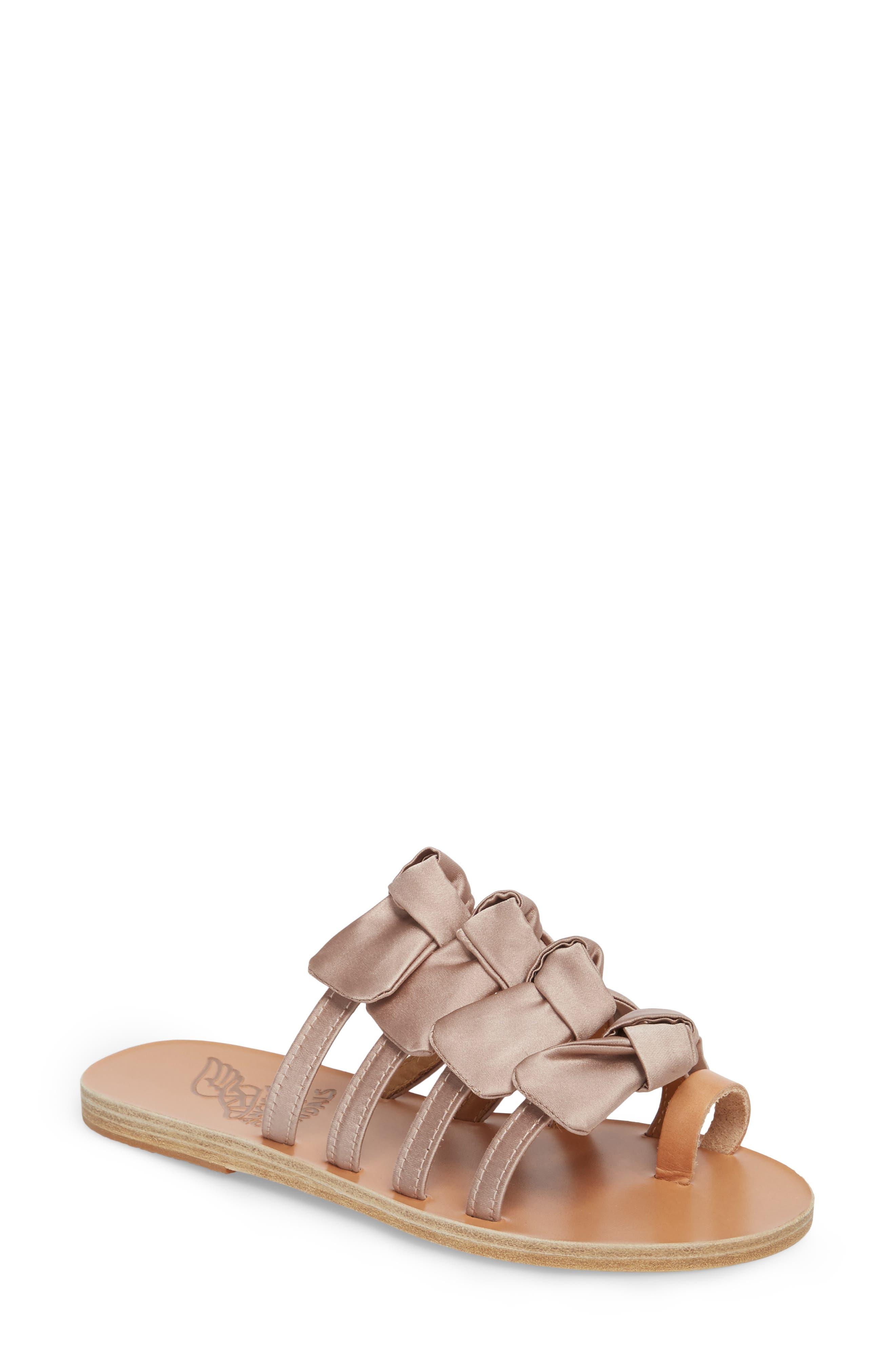 Hara Toe Loop Slide Sandal,                         Main,                         color, Natural/ Lotus