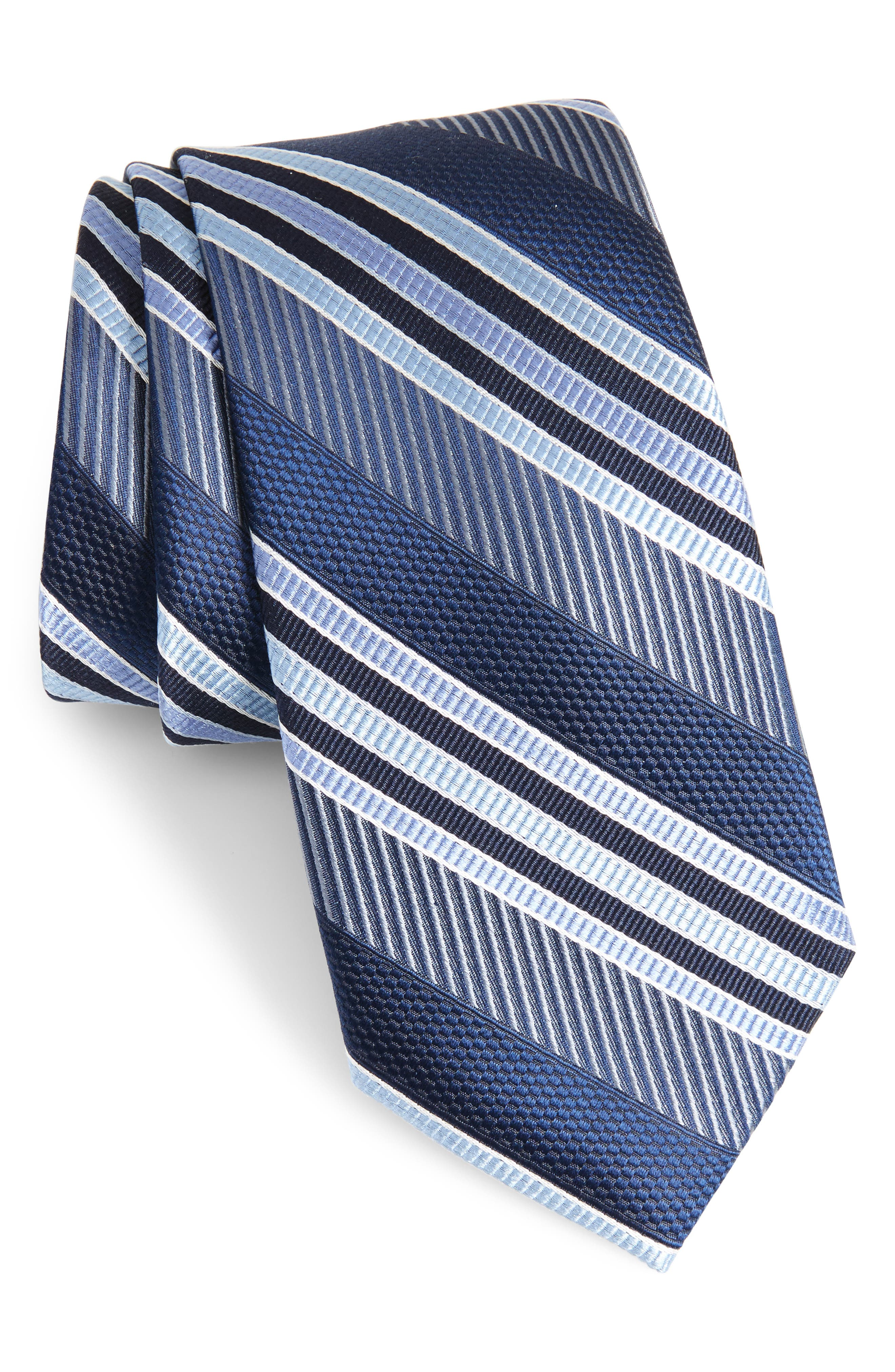 Northwest Stripe Silk Tie,                             Main thumbnail 1, color,                             Sky