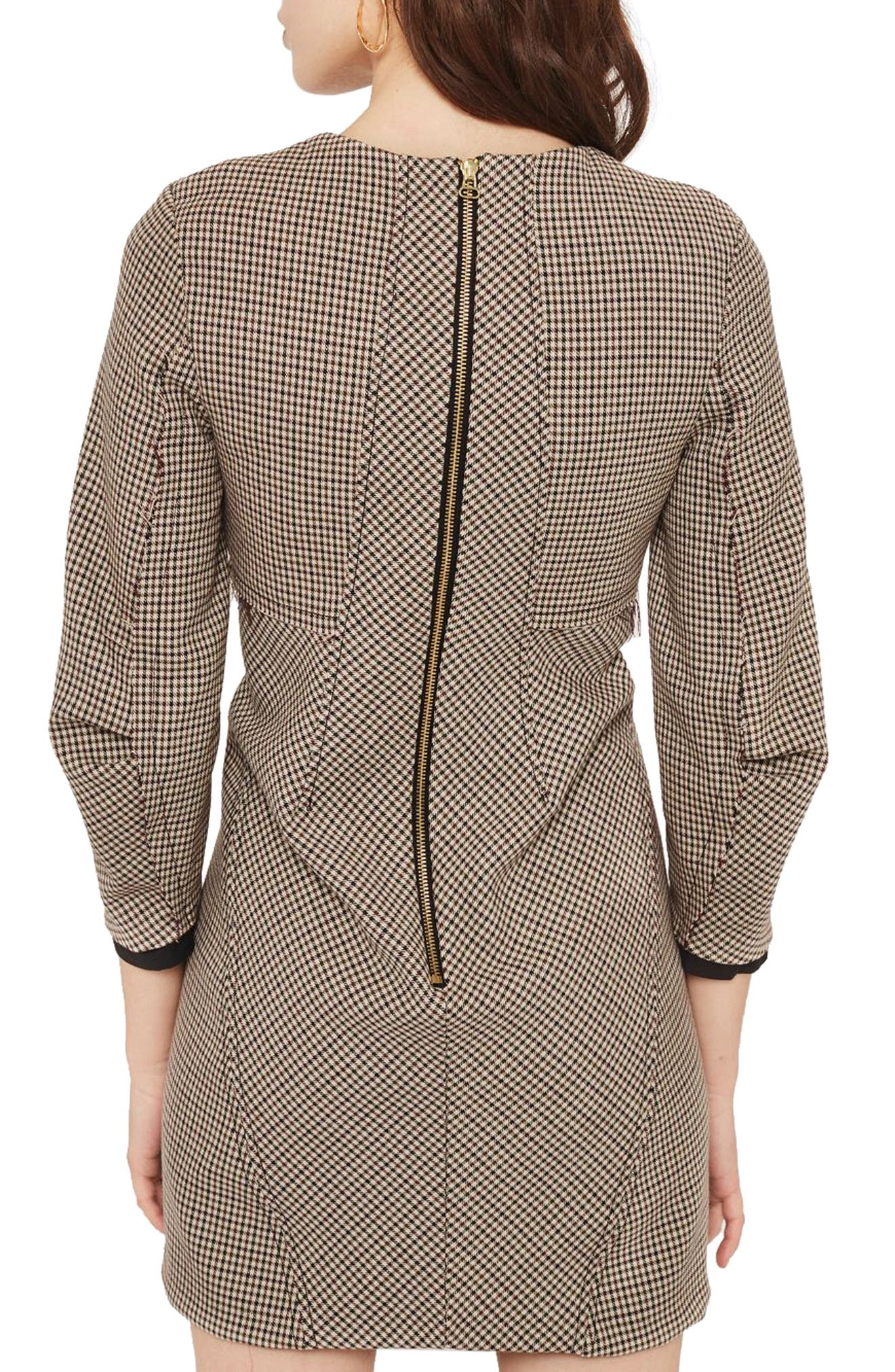 Alternate Image 3  - Topshop Topstitch Check Shift Dress