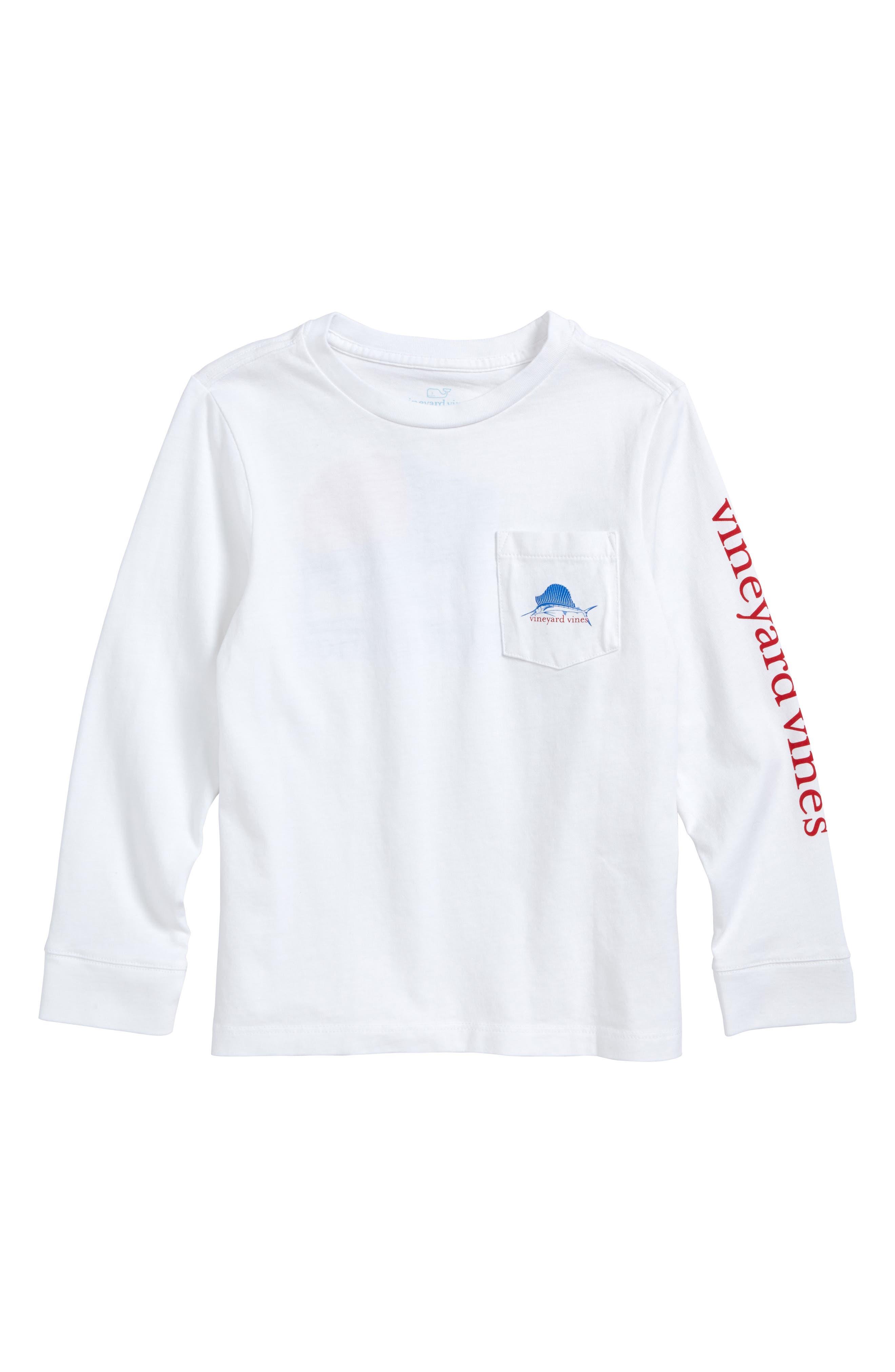 American Sailfish T-Shirt,                         Main,                         color, White Cap