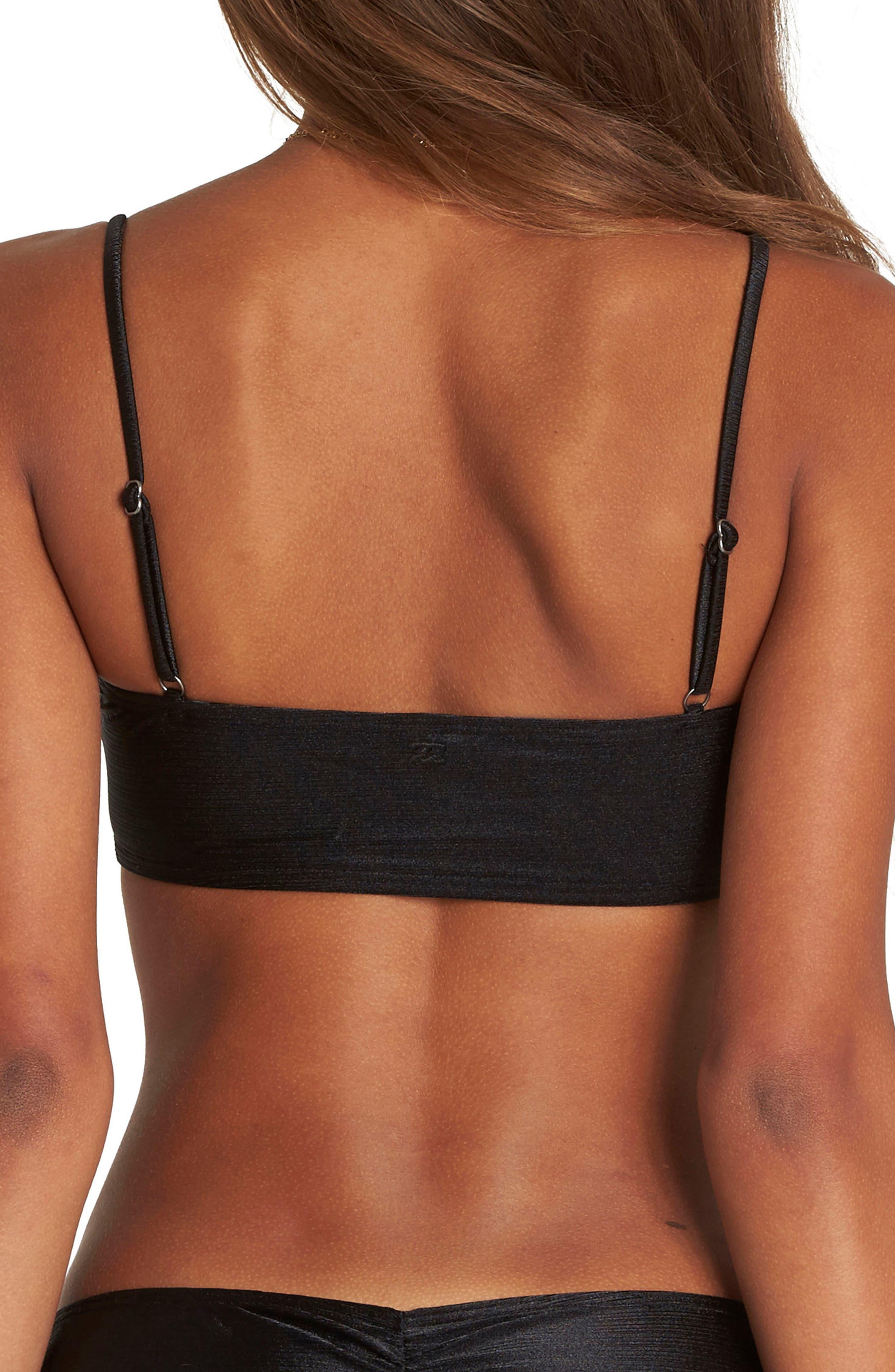 Love Bound Bandeau Bikini Top,                             Alternate thumbnail 2, color,                             Black Pebble