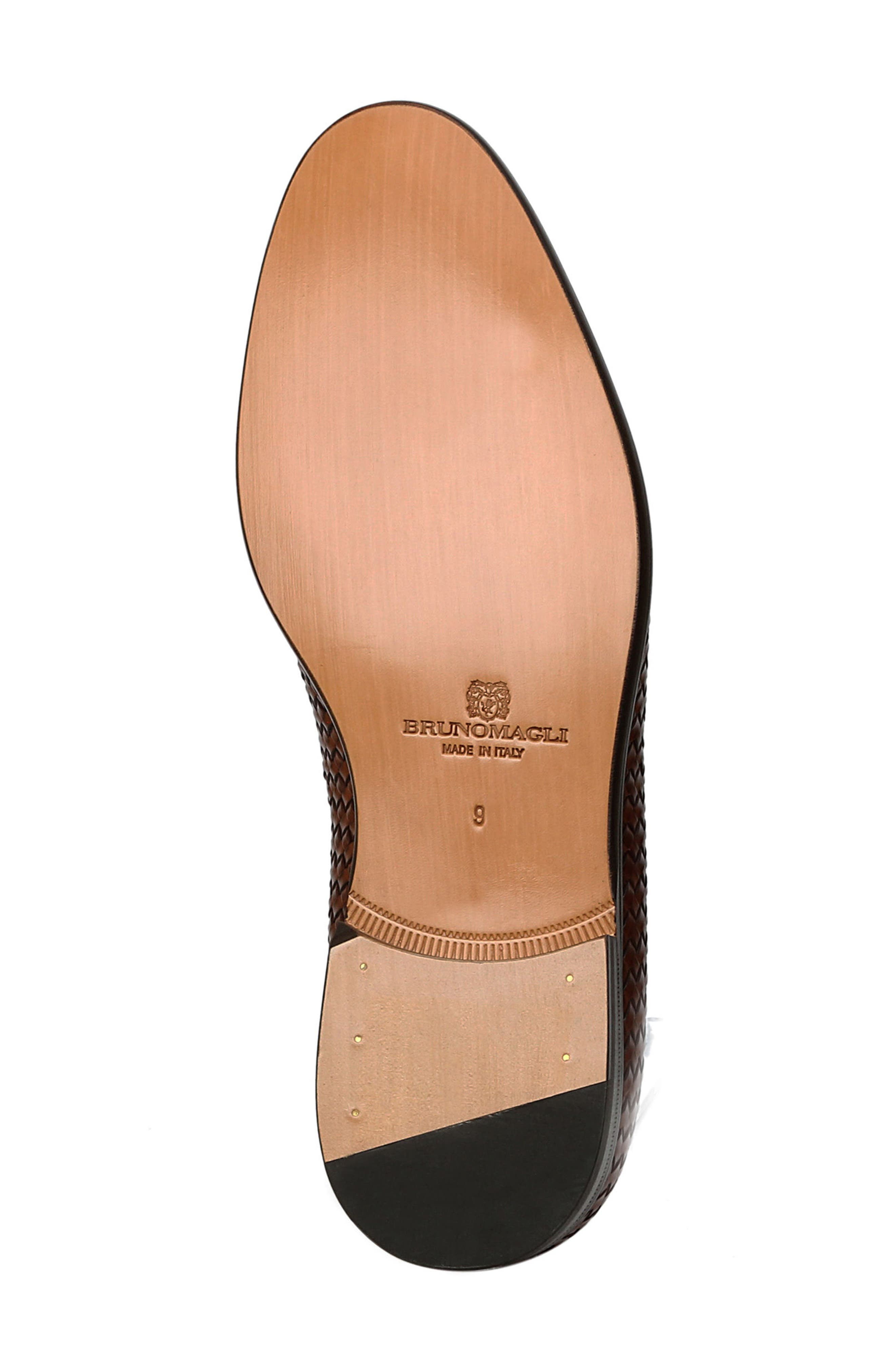 Picasso Woven Venetian Loafer,                             Alternate thumbnail 6, color,                             Cognac
