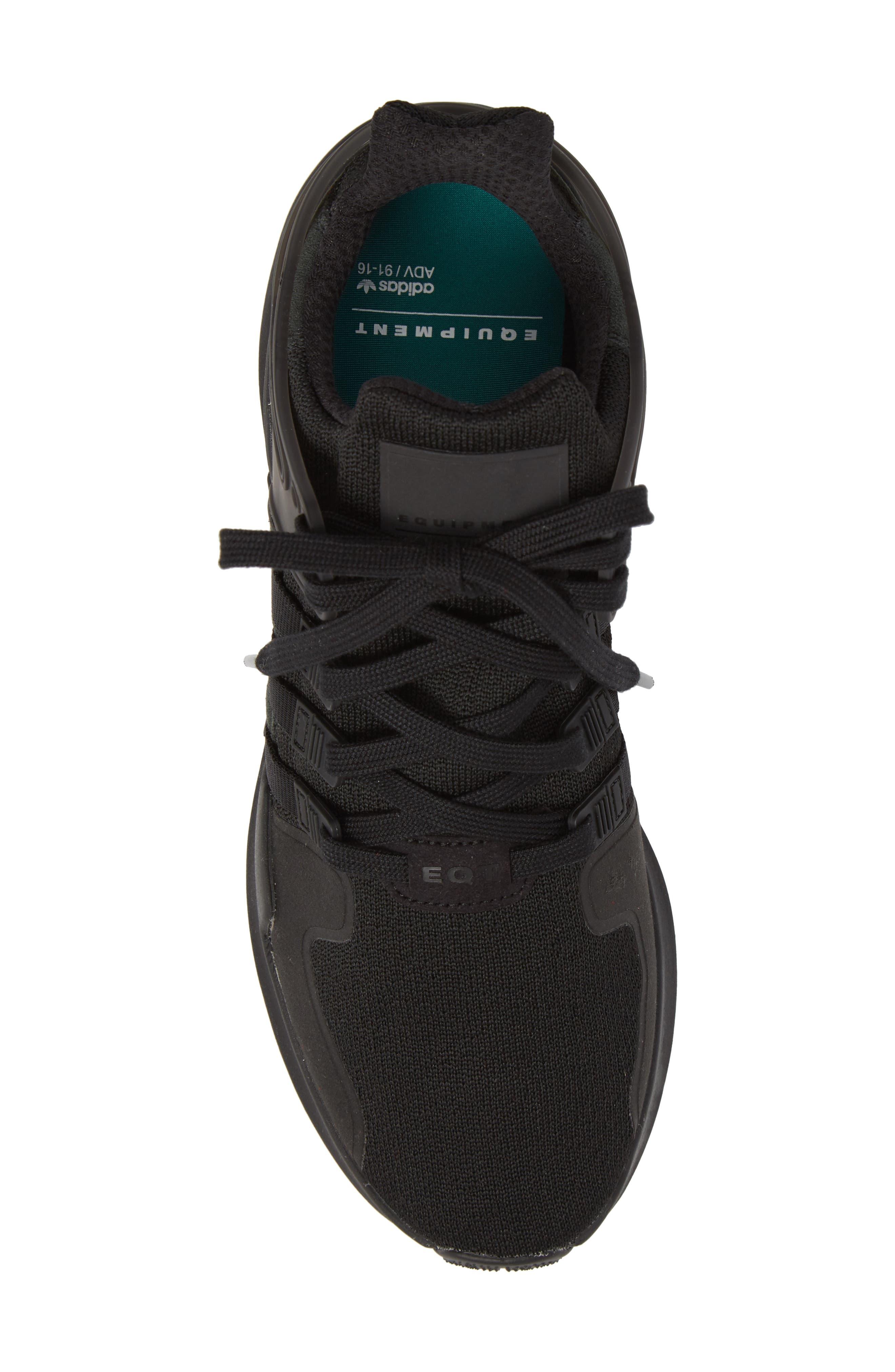 EQT Support Adv Sneaker,                             Alternate thumbnail 5, color,                             Core Black / Black / White