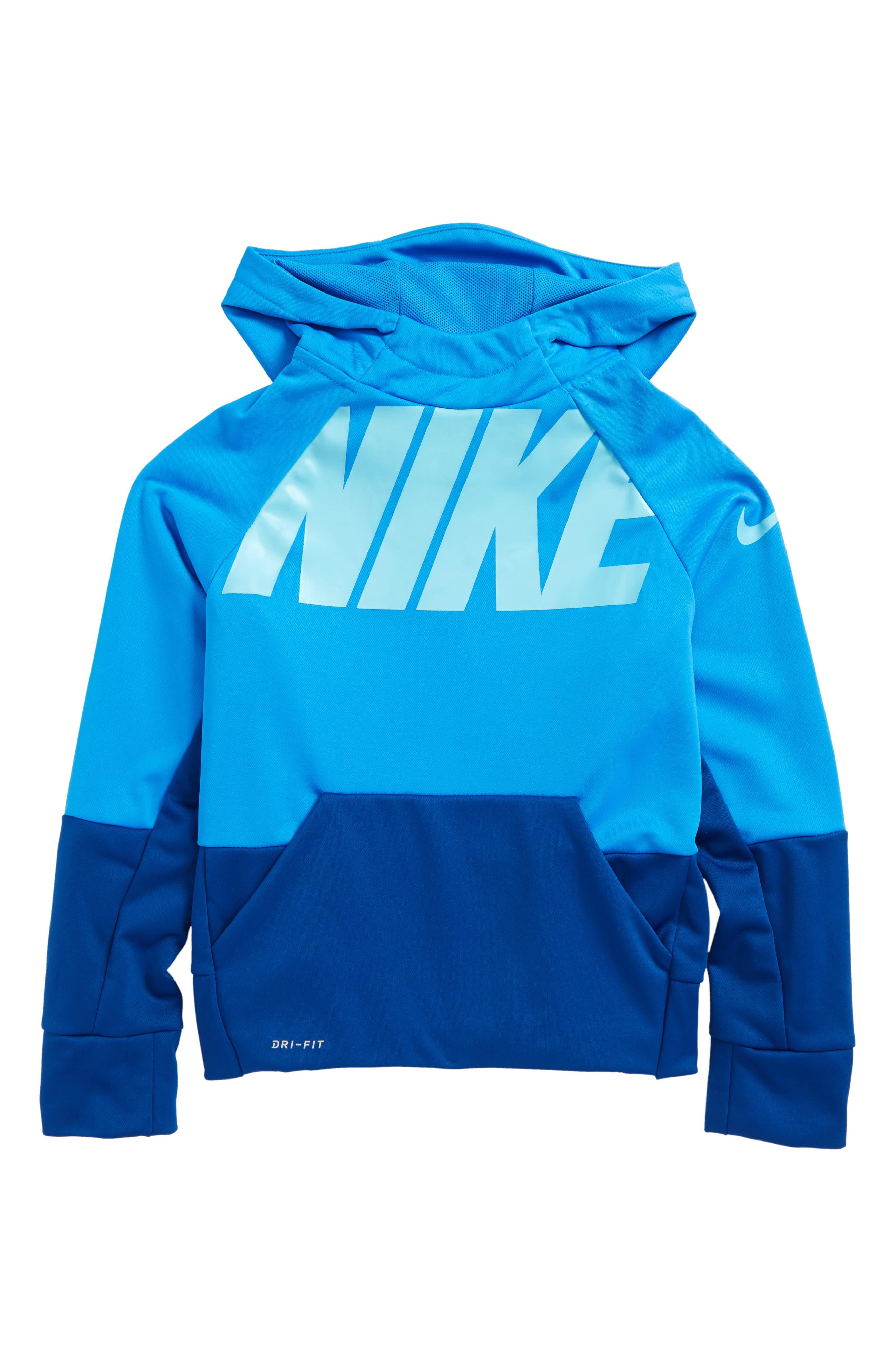 Elite Therma Hoodie,                         Main,                         color, Gym Blue