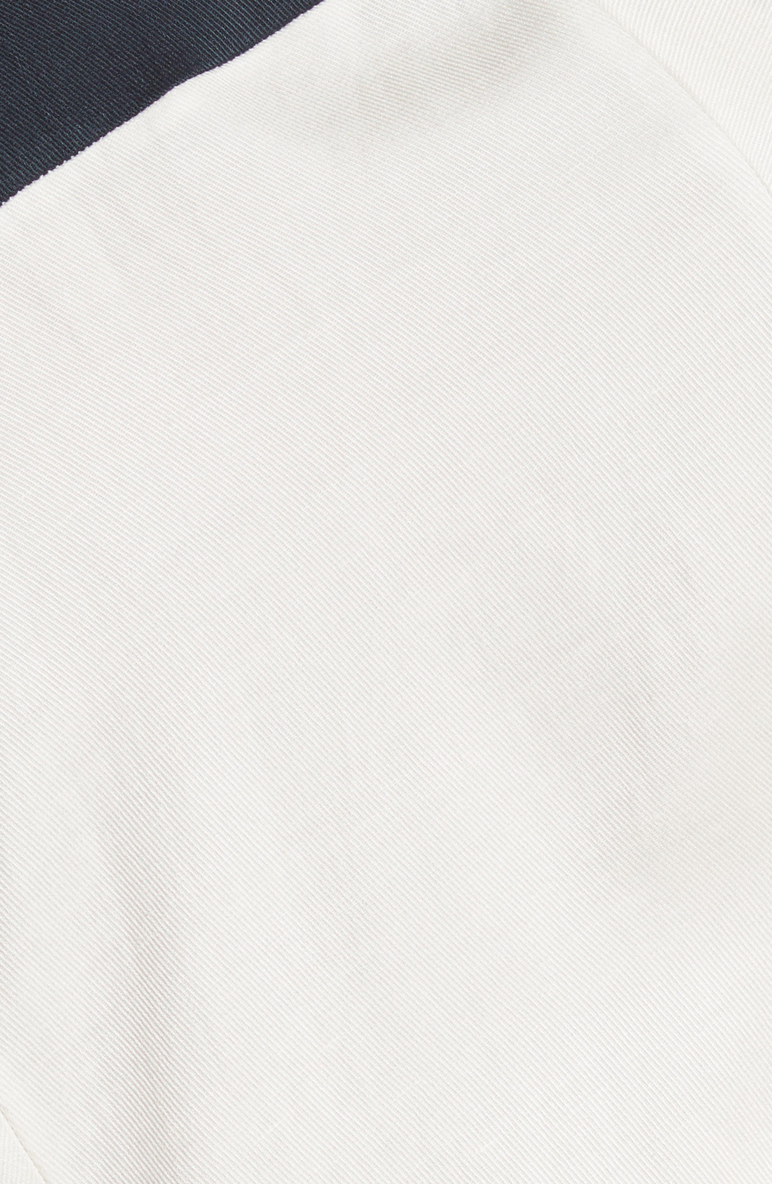 Colorblock Drape Dress,                             Alternate thumbnail 6, color,                             Ink/ White Pepper