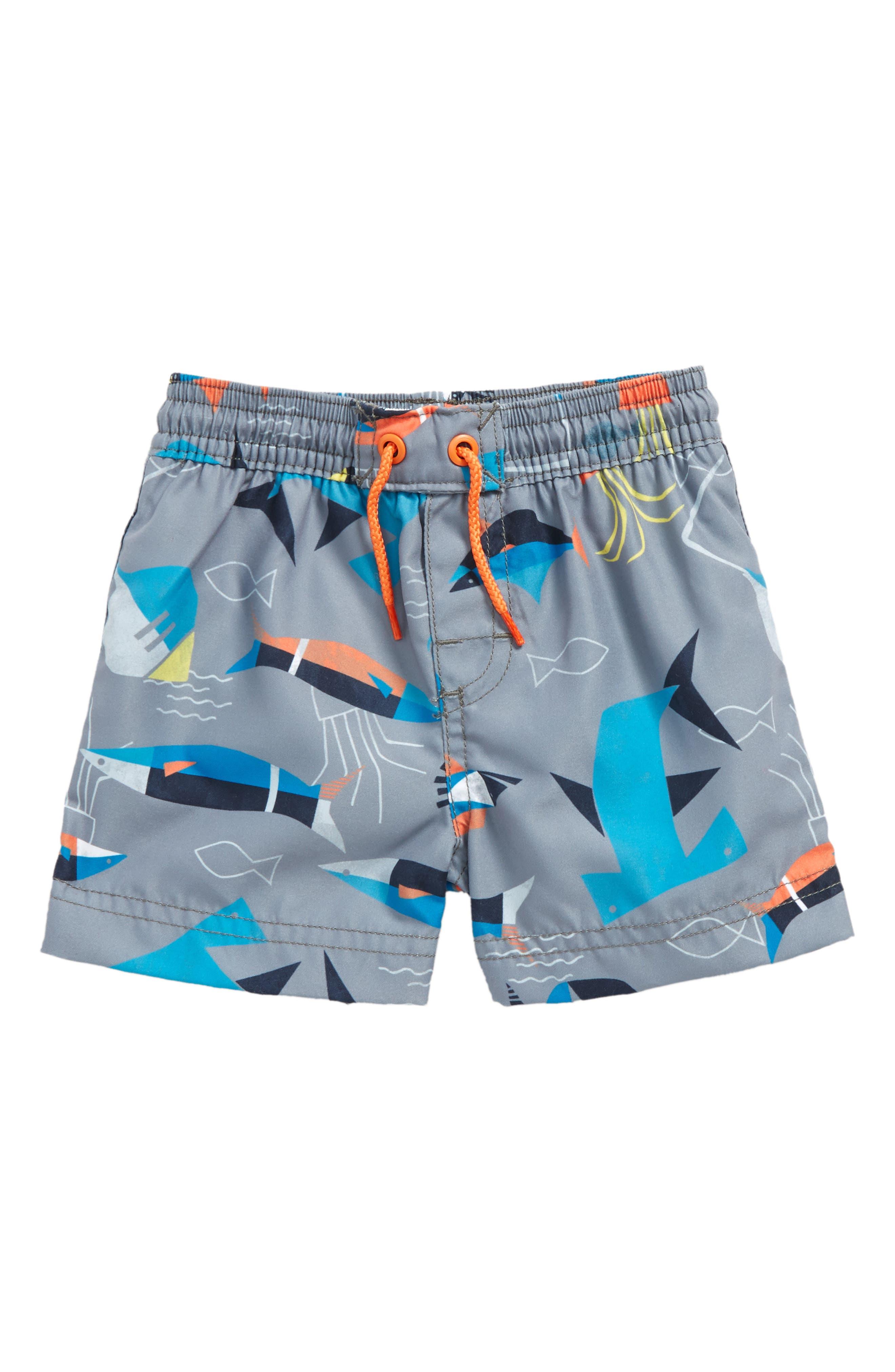 Salt Water Swim Trunks,                         Main,                         color, Raincloud