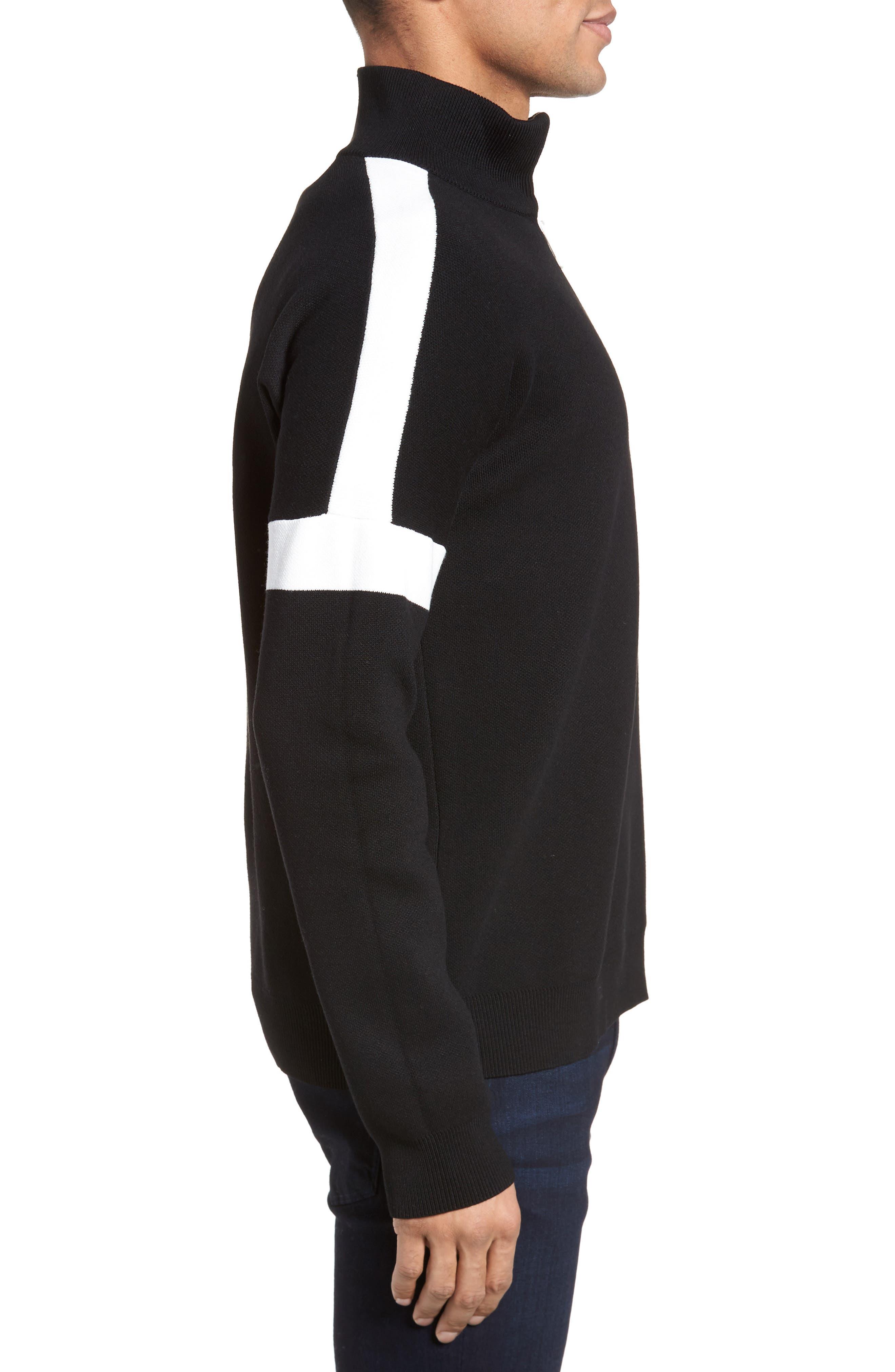 Lakra Regular Fit Half Zip Pullover,                             Alternate thumbnail 3, color,                             Black/Milk/Black