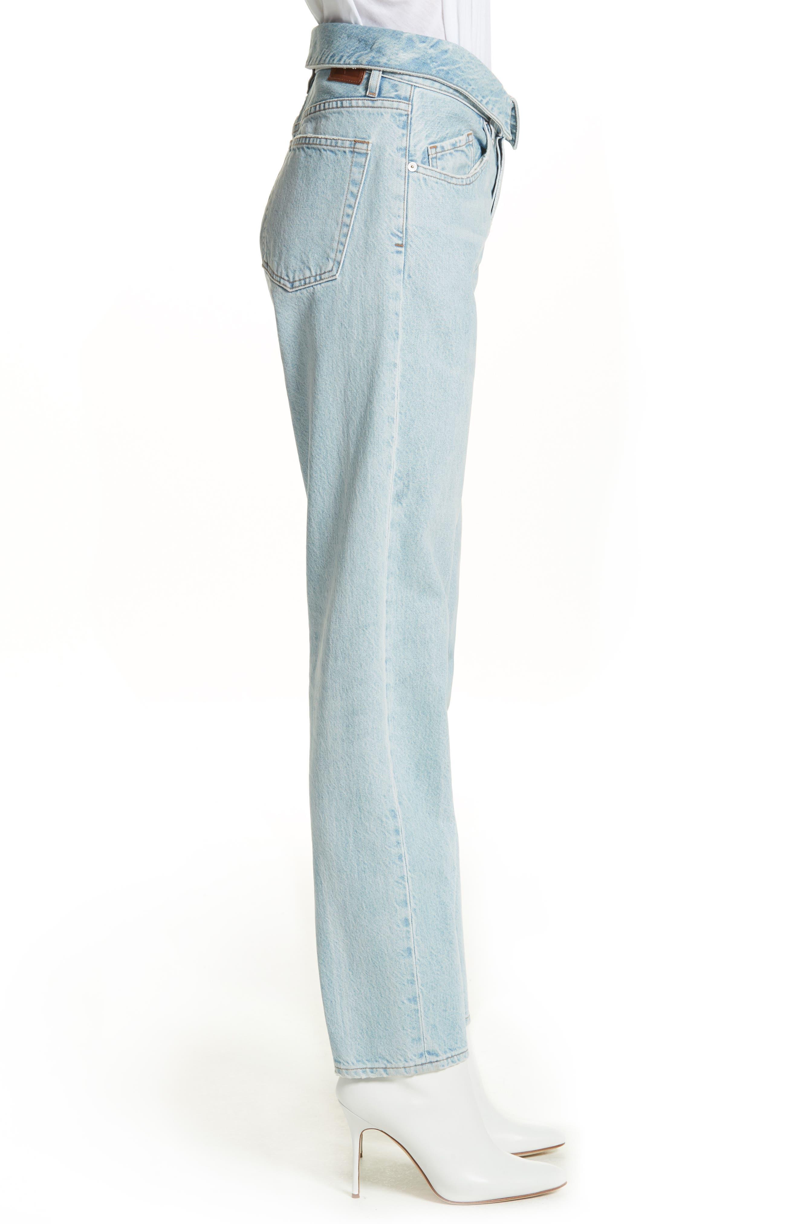 Alternate Image 3  - Jean Atelier Flip Straight Leg Jeans (Sky)
