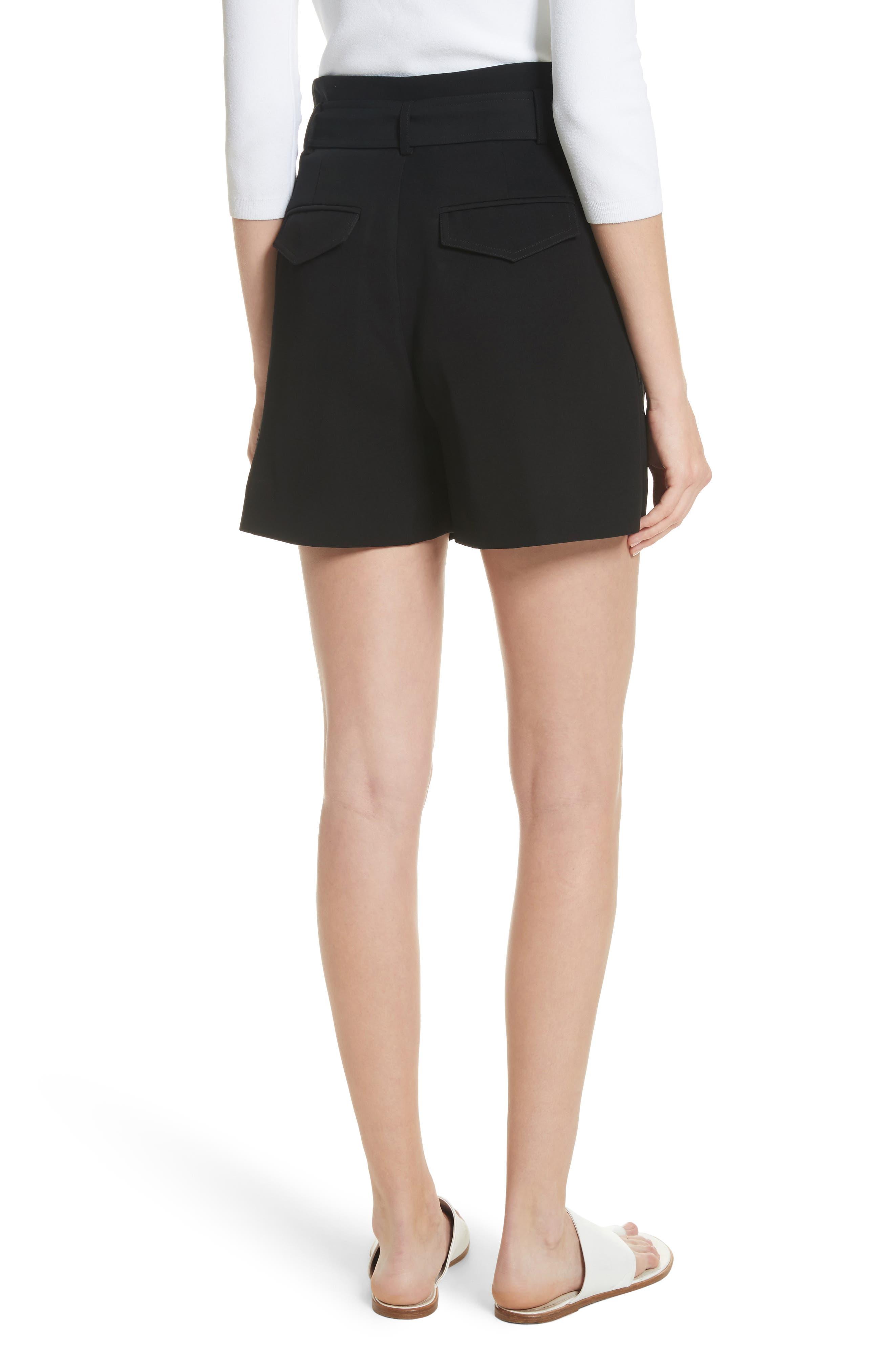 Belted Shorts,                             Alternate thumbnail 2, color,                             Black