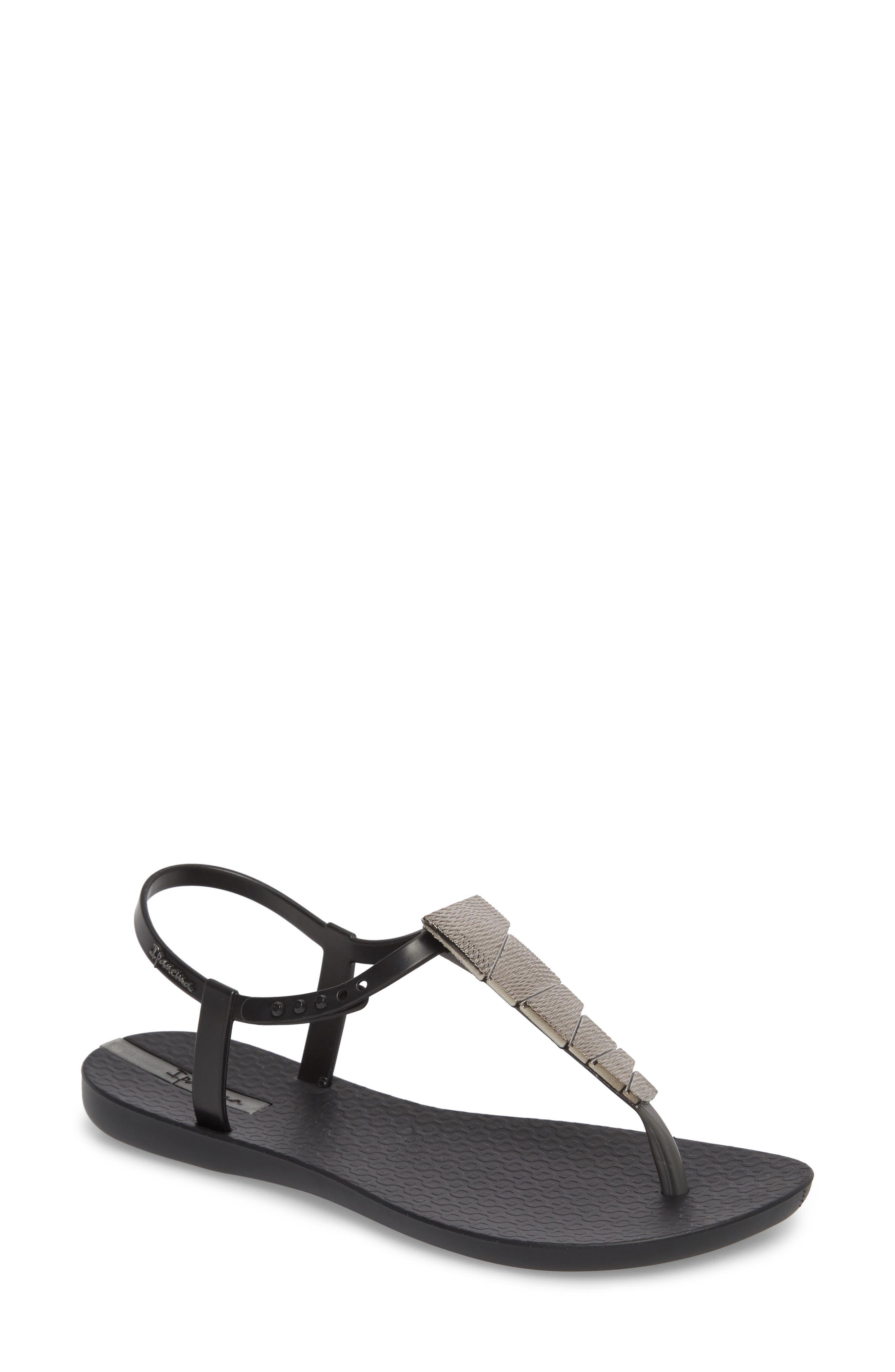 Leah Sandal,                         Main,                         color, Black/ Black