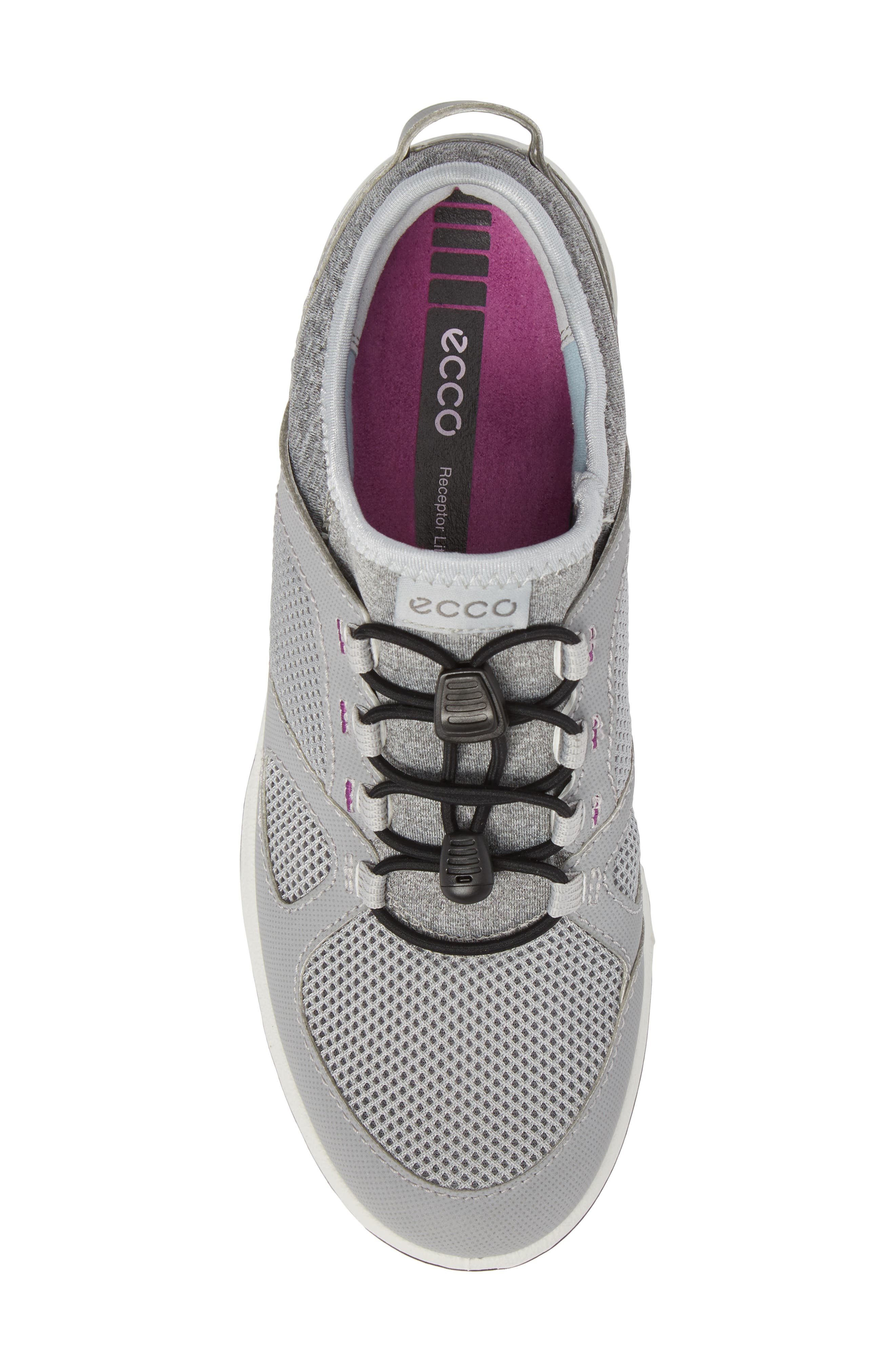 Aspina Toggle Hiking Sneaker,                             Alternate thumbnail 5, color,                             Silver Grey Leather