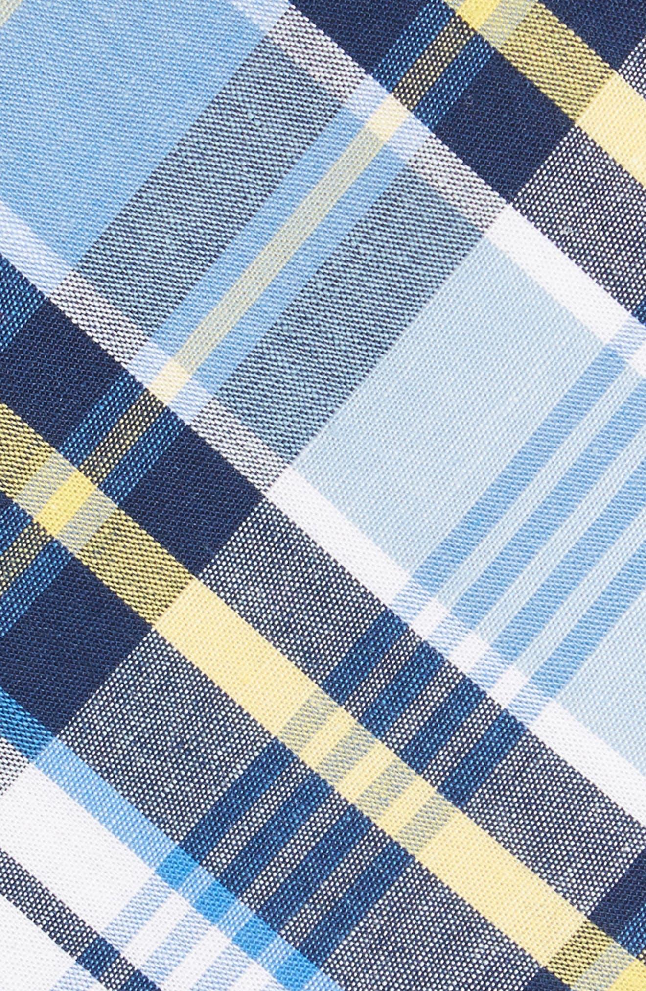 Sean Plaid Cotton Tie,                             Alternate thumbnail 2, color,                             Blue
