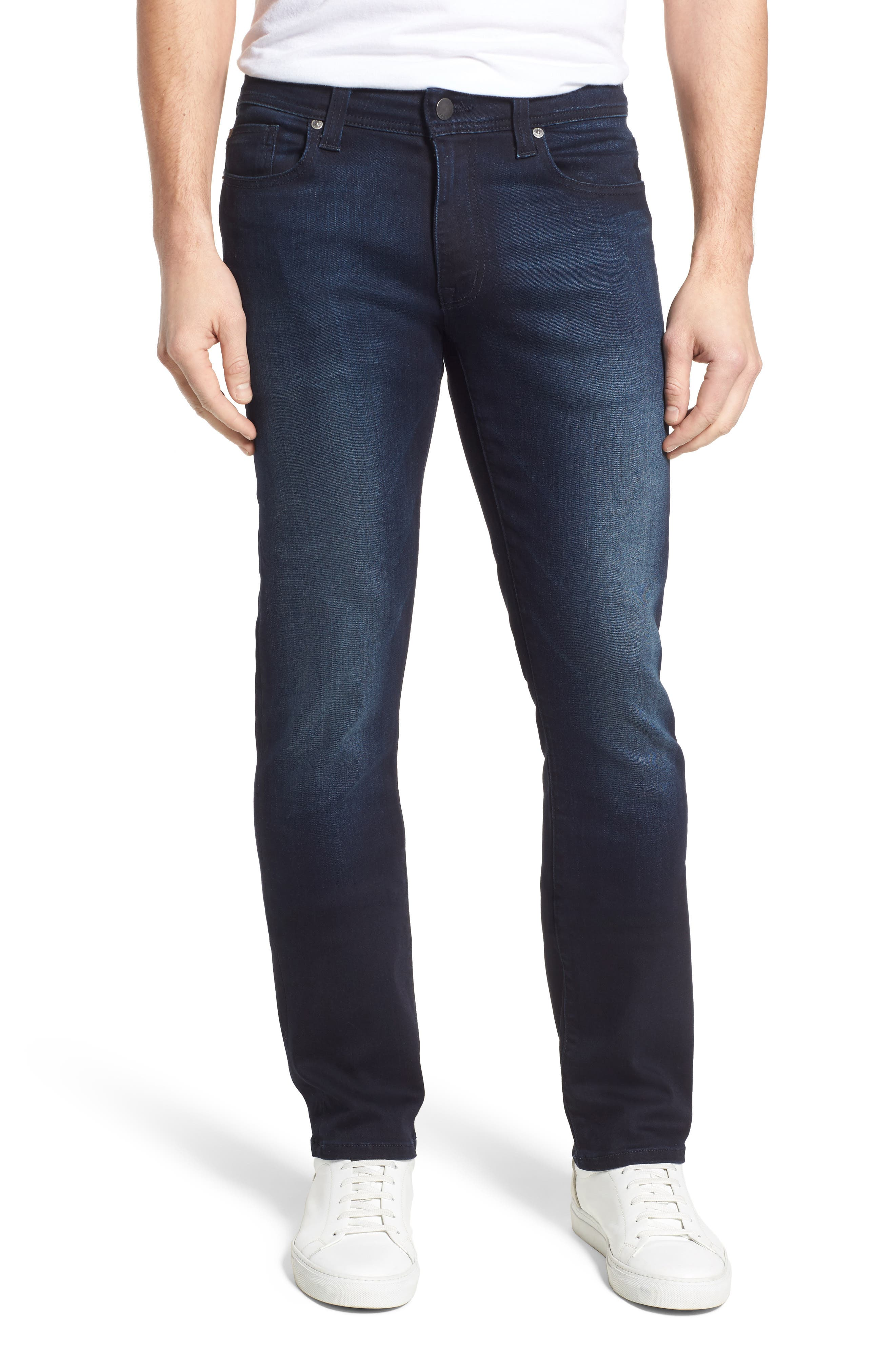 Jimmy Slim Straight Fit Jeans,                             Main thumbnail 1, color,                             Barracuda