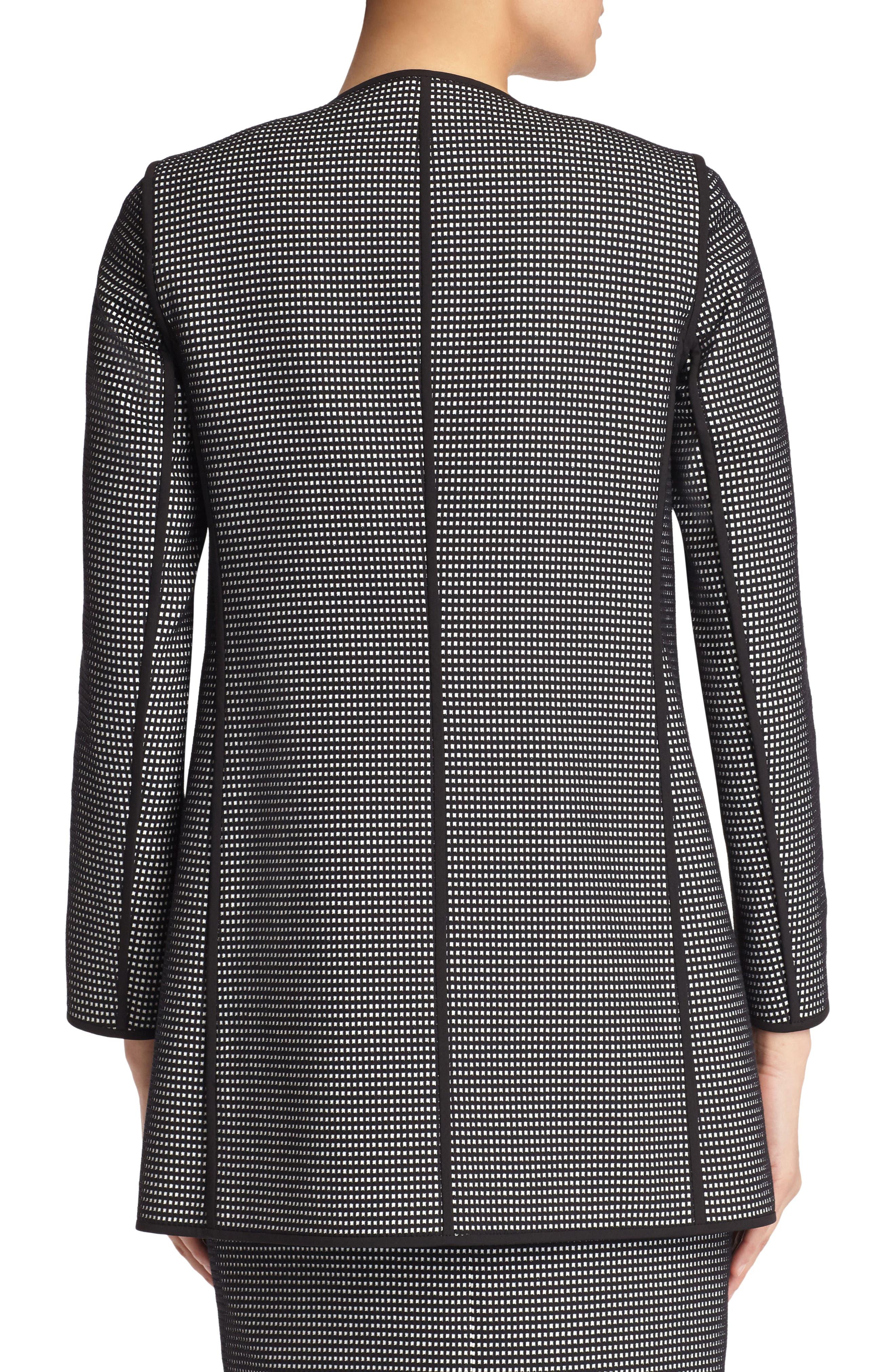 Pria Check Jacket,                             Alternate thumbnail 2, color,                             Black Multi