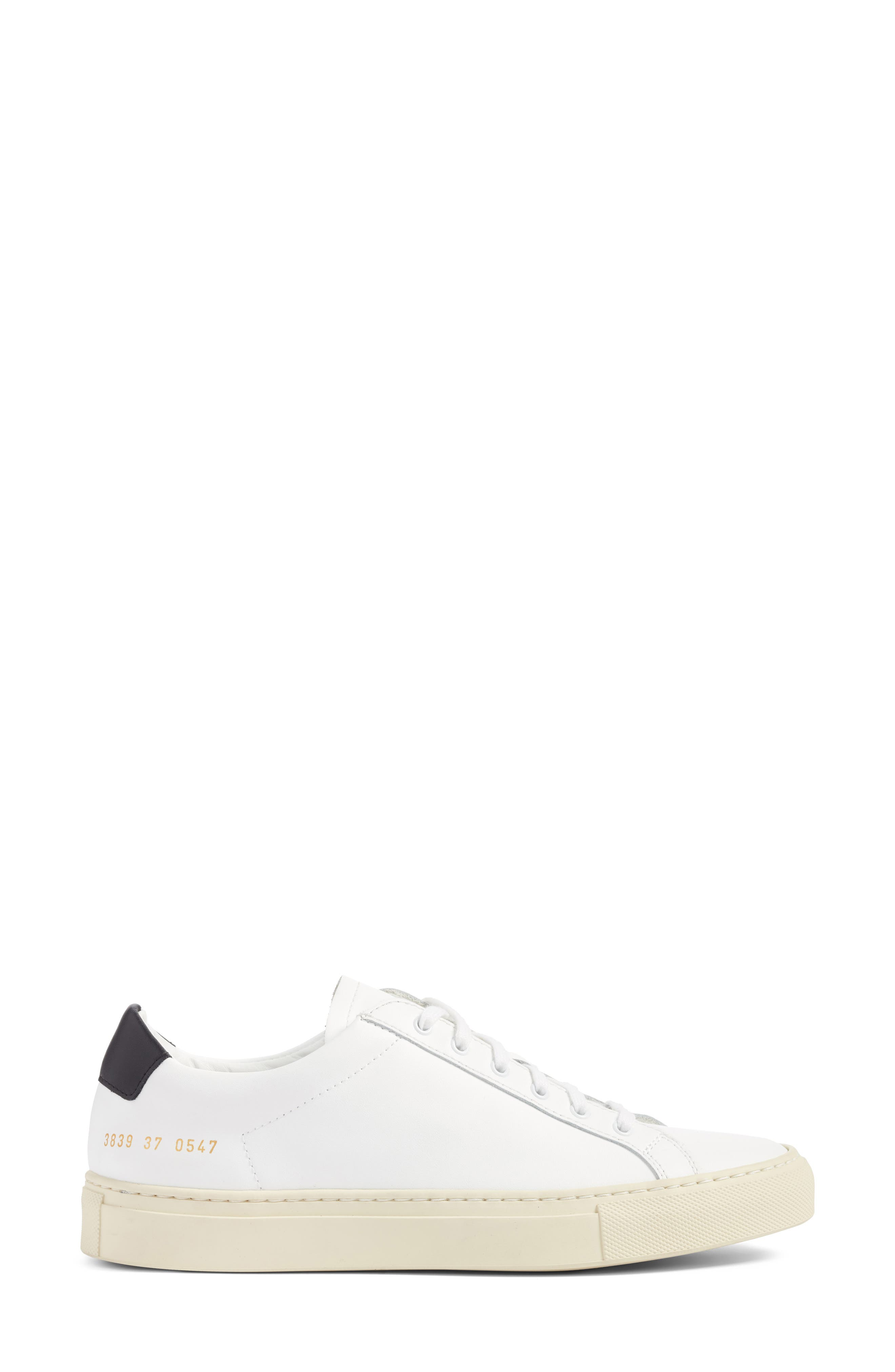 Achilles Low Top Sneaker,                             Alternate thumbnail 3, color,                             White/ Black